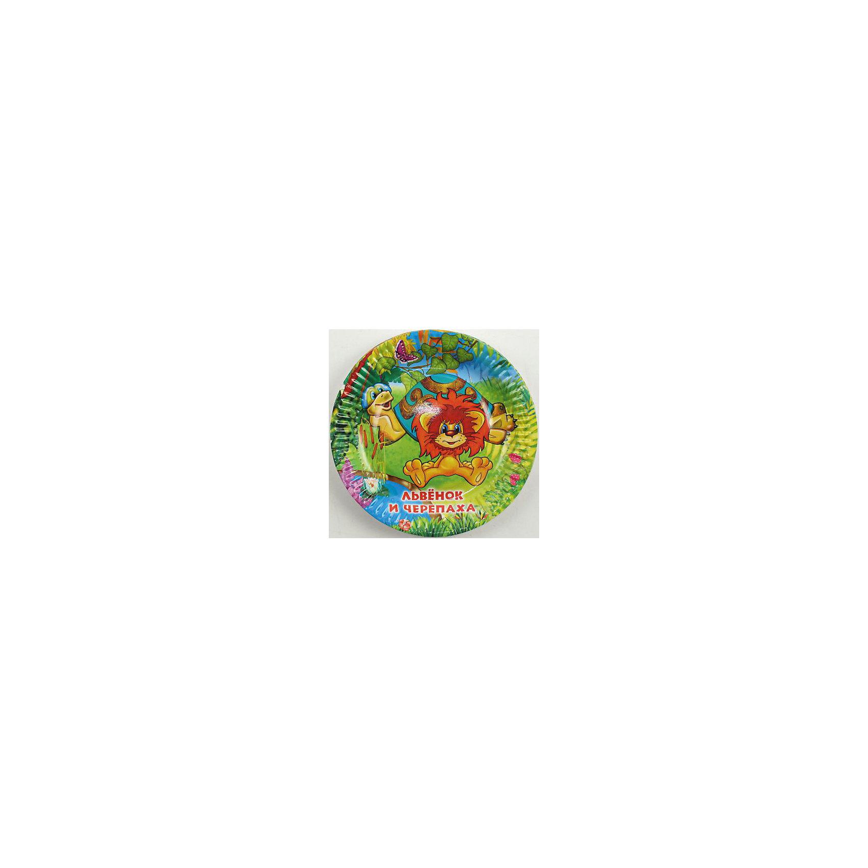 Набор из 6-и тарелок Львёнок и ЧерепахаМилые иллюстрации с героями замечательного советского мультфильма дополнят любой обеденный и праздничный стол и подарят положительные эмоции. <br><br>Дополнительная информация:<br><br>- Материал: плотный картон.<br>- Комплект: 6 шт.<br>- Диаметр: 18 см.<br>- Размер упаковки: 20х26х2 см.<br>- Вес в упаковке: 70 г.<br><br>Купить набор из 6-ти тарелок Львёнок и Черепаха можно в нашем магазине.<br><br>Ширина мм: 20<br>Глубина мм: 26<br>Высота мм: 2<br>Вес г: 70<br>Возраст от месяцев: 12<br>Возраст до месяцев: 2147483647<br>Пол: Унисекс<br>Возраст: Детский<br>SKU: 4797413