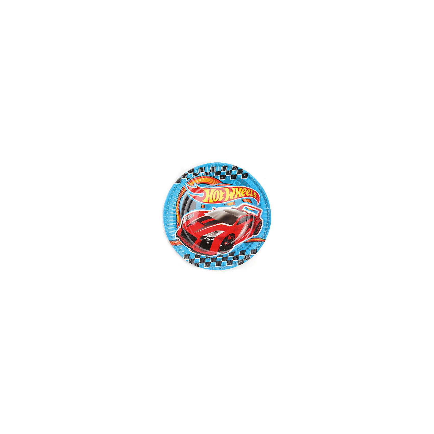 Набор из 6-и тарелок, Hot WheelsВ красивой посуде и еда кажется вкусней. По крайней мере, так думают дети. Им нравятся стильные и яркие вещи, даже если это просто посуда. Одноразовые бумажные тарелки Hot Wheels немного оживят праздничный стол и добавят в него свой колорит. <br><br>Дополнительная информация:<br><br>- Материал: плотный картон.<br>- Комплект: 6 шт.<br>- Диаметр: 18 см.<br>- Размер упаковки: 20х26х2 см.<br>- Вес в упаковке: 70 г.<br><br>Купить набор из 6-и тарелок, Hot Wheels,  можно в нашем магазине.<br><br>Ширина мм: 20<br>Глубина мм: 26<br>Высота мм: 2<br>Вес г: 70<br>Возраст от месяцев: 12<br>Возраст до месяцев: 2147483647<br>Пол: Мужской<br>Возраст: Детский<br>SKU: 4797416
