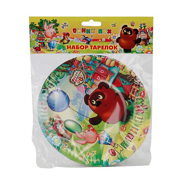 Купить Набор из 6-и тарелок Винни-Пух , Веселый праздник, Китай, Унисекс