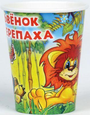 Веселый праздник Набор из 6-ти стаканчиков Львенок и Черепаха