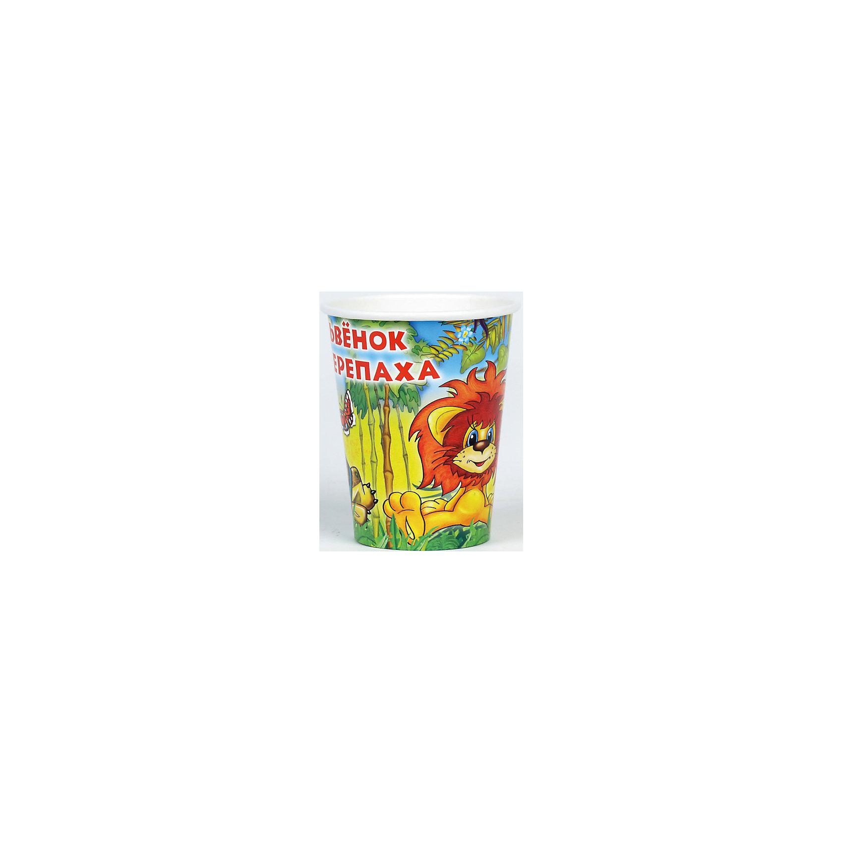 Набор из 6-ти стаканчиков Львенок и ЧерепахаПосуда<br>Стаканчики из набора Львенок и черепаха сделаны из бумаги, они совершенно безопасны для ребенка и для окружающей среды. Ведь при сжигании бумага не выделяет в воздух абсолютно никаких вредных веществ. Кроме того стаканчики ярко оформлены изображением героев из любимыми многими советского мультфильма, который учит дружбе и добру.  <br><br>Дополнительная информация:<br><br>- Материал: плотный картон.<br>- Комплект: 6 шт.<br>- Объем: 150 мл.<br>- Размер упаковки: 13х23х8 см.<br>- Вес в упаковке: 60 г.<br><br>Купить набор из 6-и стаканчиков Львенок и Черепаха можно в нашем магазине.<br><br>Ширина мм: 13<br>Глубина мм: 23<br>Высота мм: 8<br>Вес г: 60<br>Возраст от месяцев: 12<br>Возраст до месяцев: 2147483647<br>Пол: Унисекс<br>Возраст: Детский<br>SKU: 4797420