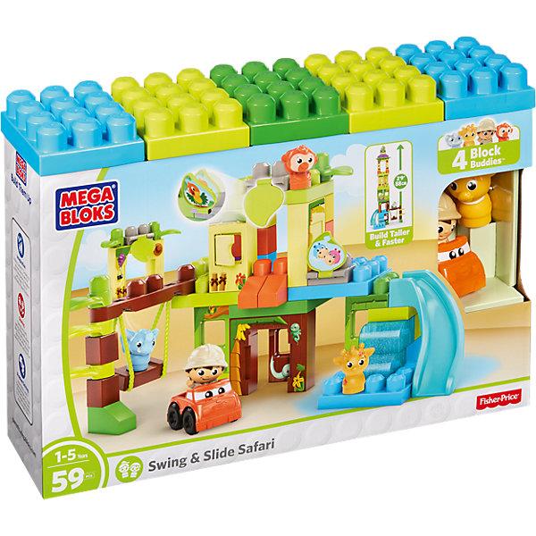 Игровой набор - конструктор Приключения в джунглях, MEGA BLOKSПластмассовые конструкторы<br>Характеристики:<br><br>• тип игрушки: конструктор;<br>• возраст: от 5 лет;<br>• количество деталей: 59 шт;<br>• комплектация: детали для сборки здания с горкой и качелями, фигурки;<br>• размер: 48х13х33 см;<br>• бренд: Mega Bloks;<br>• материал: пластик;<br>• страна бренда: Канада.<br><br>Игровой набор - конструктор «Приключения в джунглях» MEGA BLOKS - это великолепный конструктор, который состоит из 59 деталей. Собирая конструктор, ребенок получит море положительных эмоций, помимо этого, с уже собранным конструктором ребенок сможет играть довольно долго, придумывая все новые и новые сюжетные линии.<br><br>Игровой набор - конструктор «Приключения в джунглях» MEGA BLOKS можно купить в нашем интернет-магазине.<br>Ширина мм: 481; Глубина мм: 340; Высота мм: 132; Вес г: 1639; Возраст от месяцев: 12; Возраст до месяцев: 48; Пол: Унисекс; Возраст: Детский; SKU: 4797467;