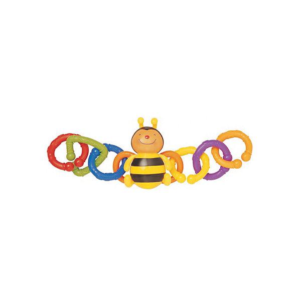 Набор для коляски Пчелка, Ks KidsИгрушки для новорожденных<br>Набор для коляски Пчелка, Ks Kids (Кс Кидс) ? развивающая яркая игрушка-подвеска, предназначенная для детей с самого рождения. Оригинальная форма исполнения ? в центре фигурка веселой пчелки, у которой к крыльям прикреплены по три кольца в обе стороны ?обеспечивает ее функциональность и длительное использование. Эта погремушка может быть прикреплена не только к поручню коляски, но и к кроватке, автокреслу, стульчику для кормления или к бортикам манежа. Закрепляться она может как с двух сторон, так и с одной.<br>Разноцветные кольца разной фактуры, цвета и форм набора для коляски Пчелка, Ks Kids (Кс Кидс) позволяют развивать зрительное восприятие, тактильные ощущения и хватательный рефлекс с самых первых дней жизни малыша. Подросшим малышам, данная игрушка будет незаменимой в качестве грызунка во время прорезывания зубов. <br>Годовалому малышу набор для коляски Пчелка, Ks Kids позволит в легкой игровой форме изучить основные цвета и формы.<br>Игрушка для коляски Пчелка, Ks Kids (Кс Кидс) изготовлена из экологически безопасных материалов, устойчивых к механическим повреждениям и выгоранию цвета.<br><br>Дополнительная информация:<br><br>- Вид игр: развивающие<br>- Предназначение: для дома, для прогулки<br>- Материал: текстиль, пластик<br>- Размер: 11*11*35 см<br>- Вес: 170 г<br>- Комплектация: фигурка пчелки, 6 съемных колец разного цвета и формы <br>- Особенности ухода: разрешается деликатная стирка <br><br>Подробнее:<br><br>• Для детей в возрасте: от 0 месяцев до 1 года<br>• Страна производитель: Китай<br>• Торговый бренд: Ks Kids<br><br>Набор для коляски Пчелка, Ks Kids  (Кс Кидс) можно купить в нашем интернет-магазине.<br><br>Ширина мм: 110<br>Глубина мм: 110<br>Высота мм: 35<br>Вес г: 170<br>Возраст от месяцев: 0<br>Возраст до месяцев: 12<br>Пол: Унисекс<br>Возраст: Детский<br>SKU: 4799438