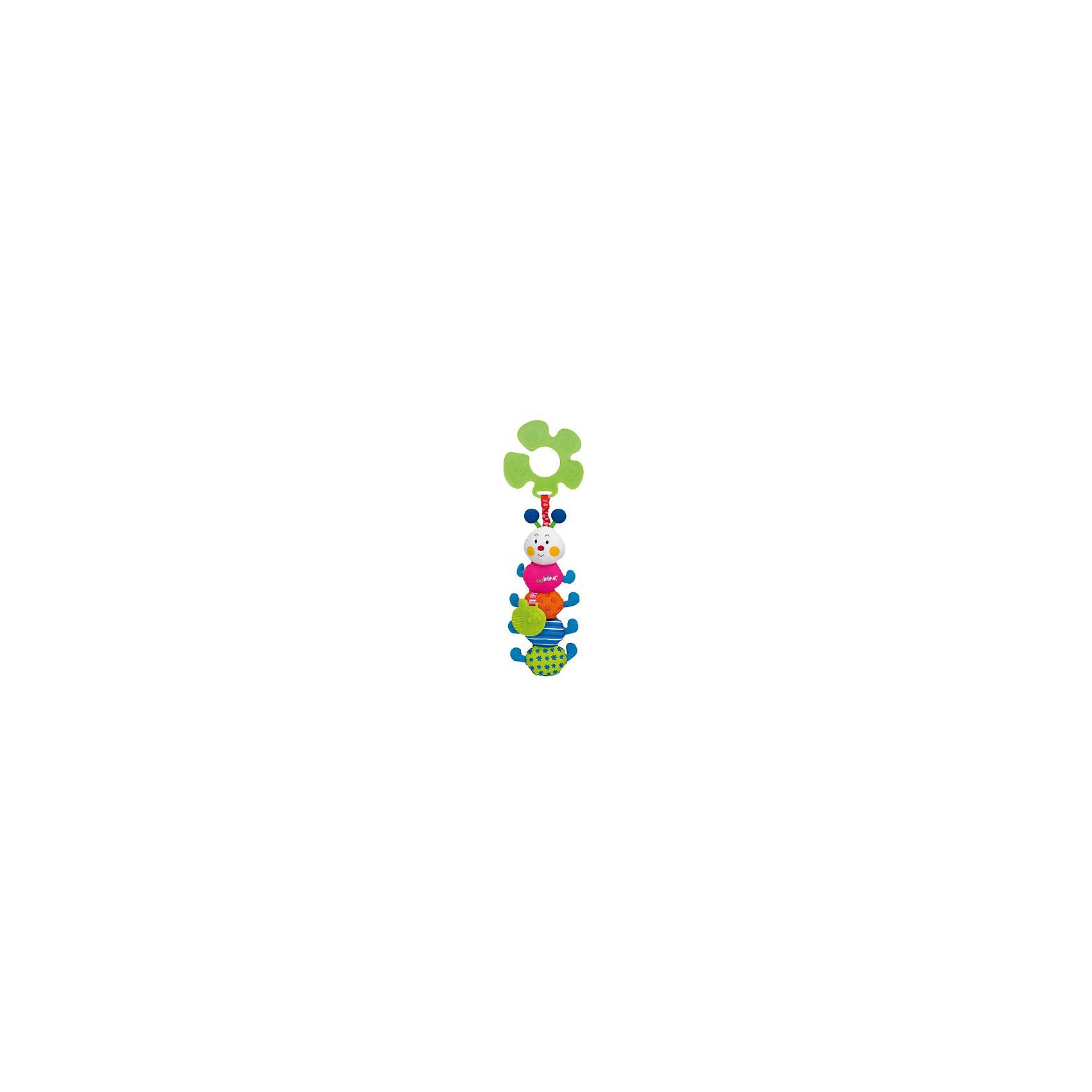 Гусеничка подвеска, Ks KidsПодвески<br>Гусеничка подвеска, Ks Kids (Кс Кидс) ? развивающая игрушка-подвеска, предназначенная для детей с самого рождения. Подвеска выполнена в форме знаменитого персонажа Кс Кидс ? веселой яркой гусенички. <br>У гусеницы тело, состоящее из головы и 4 разноцветных отделений, каждый из которых имеет свой слуховой эффект: шуршит, бренчит, звенит, пищит. К одному из элементов туловища прикреплен резиновый прорезыватель в форме зеленого яблока.<br>К пластиковому кольцу-держателю гусеничка прикреплена яркой широкой резинкой. Саму игрушку можно подвешивать к абсолютно любому поручню: будь то коляска, кроватка, автокресло или стульчик для кормления. <br>Игрушка изготовлена из высококачественного гипоаллергенного текстильного материала.<br>Все элементы Гусенички подвески, Ks Kids (Кс Кидс) направлены на сенсомоторное развитие вашего малыша. <br><br>Дополнительная информация:<br><br>- Вид игр: развивающие<br>- Предназначение: для дома, для прогулки<br>- Материал: текстиль, пластик<br>- Размер: 9*29*2 см<br>- Вес: 134 г<br>- Особенности ухода: можно стирать в щадящем режиме<br><br>Подробнее:<br><br>• Для детей в возрасте: от 0 месяцев до 1 года<br>• Страна производитель: Китай<br>• Торговый бренд: Ks Kids (Кс Кидс)<br><br>Гусеничку подвеску, Ks Kids (Кс Кидс) можно купить в нашем интернет-магазине.<br><br>Ширина мм: 90<br>Глубина мм: 290<br>Высота мм: 20<br>Вес г: 134<br>Возраст от месяцев: 0<br>Возраст до месяцев: 12<br>Пол: Унисекс<br>Возраст: Детский<br>SKU: 4799440