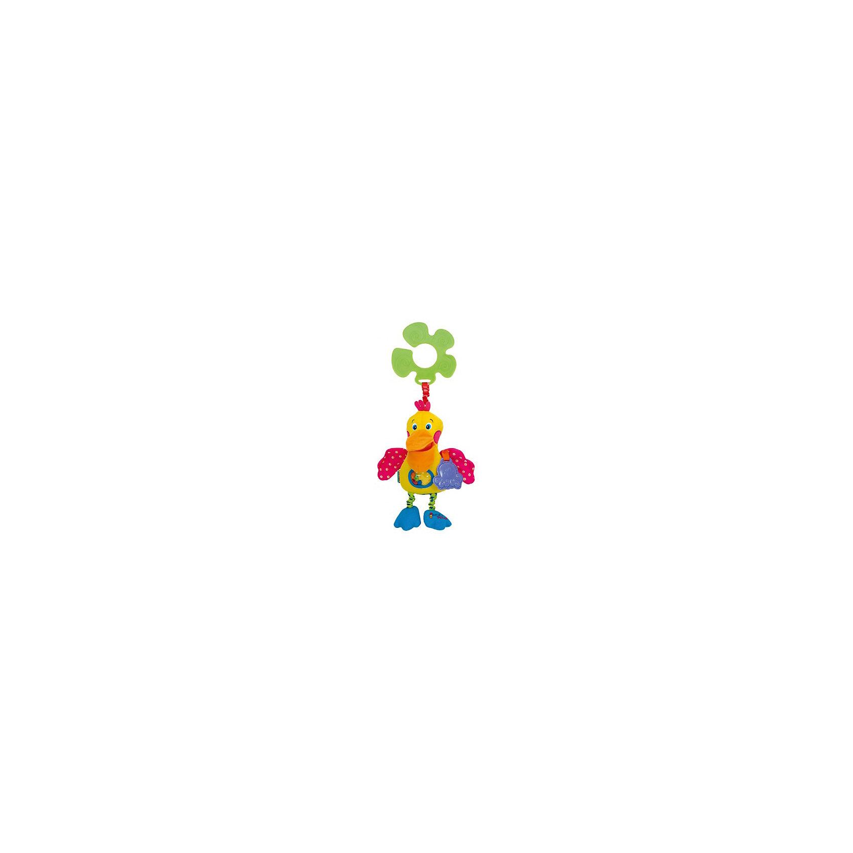 Голодный пеликан подвеска, Ks KidsПодвески<br>Голодный пеликан подвеска, Ks Kids (Кс Кидс) ? развивающая игрушка-подвеска, предназначенная для детей с самого рождения. Подвеска выполнена в форме знаменитого персонажа Кс Кидс ? очаровательного голодного пеликана. <br>У пеликана все элементы тела издают шуршащие и хрустящие звуки, в правой лапе ? погремушка, пищалка ? в животе, к левому крылу прикреплен резиновый прорезыватель-пеликан. Кроме того, на животе пеликана имеется прозрачный кармашек, в котором плавают четыре разноцветные рыбки. Лапки птицы могут оттягиваться. <br>К пластиковому кольцу-держателю пеликан прикреплен яркой широкой резинкой. Если резинку оттянуть, при возвращении ее в исходное состояние, игрушка будет слегка вибрировать. Самого пеликана можно подвешивать к абсолютно любому поручню: будь то коляска, кроватка, автокресло, стульчик для кормления или дуга от любого развивающего коврика. <br>Игрушка изготовлена из высококачественного гипоаллергенного текстильного материала.<br>Все элементы Голодного пеликана подвески, Ks Kids (Кс Кидс) способствуют раннему сенсомоторному развитию вашего малыша. <br><br>Дополнительная информация:<br><br>- Вид игр: развивающие<br>- Предназначение: для дома, для прогулки<br>- Материал: текстиль, пластик<br>- Размер: 12*20*3 см<br>- Вес: 190 г<br>- Особенности ухода: можно стирать в щадящем режиме<br><br>Подробнее:<br><br>• Для детей в возрасте: от 0 месяцев до 1 года<br>• Страна производитель: Китай<br>• Торговый бренд: Ks Kids (Кс Кидс)<br><br>Голодного пеликана подвеску, Ks Kids (Кс Кидс) можно купить в нашем интернет-магазине.<br><br>Ширина мм: 120<br>Глубина мм: 200<br>Высота мм: 30<br>Вес г: 190<br>Возраст от месяцев: 0<br>Возраст до месяцев: 12<br>Пол: Унисекс<br>Возраст: Детский<br>SKU: 4799442