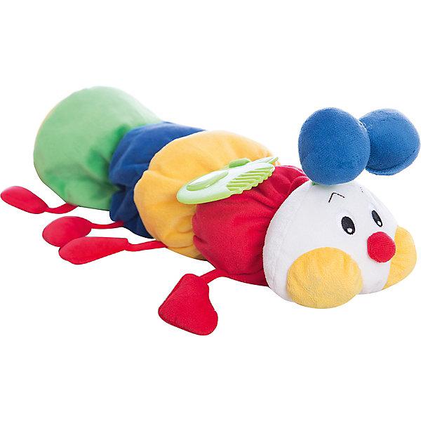 Развивающая мягкая игрушка Гусеничка с прорезывателем, Ks KidsПустышки<br>Игрушка-сортер Гусеничка, Ks Kids (Кс Кидс)  ? развивающая многофункциональная игрушка, предназначенная самого раннего возраста. Игрушка-сортер выполнена из высококачественных гипоаллергенных материалов, приятных на ощупь. Гусеничка состоит из 5 деталей: милая мордочка с яркими элементами и 4 мягких блока-кубика. Каждый блок наделен своими особенностями: на одном имеется прорезыватель, на втором ? безопасное зеркальце, на третьем ? шуршащий листочек, а в четвертом ?тзвенящий элемент внутри кубика. Между собой кубики соединяются благодаря отверстиям и выпуклым элементам в форме геометрических фигур. Поэтому, собрать в произвольном порядке тело гусенички не получится, что имеет достаточно важный обучающий смысл.<br>Игрушка-сортер Гусеничка, Ks Kids (Кс Кидс)  ? игрушка, с которой ваш ребенок легко освоит простейшие конструкторские навыки. Функциональные элементы сортера будут способствовать развитию интеллектуальных способностей, пространственного и логического мышления. Для самых маленьких гусеничка будет эффективна с целью развития зрительных, тактильных и слуховых способностей.<br><br>Дополнительная информация:<br><br>- Вид игр: развивающие<br>- Предназначение: для дома, для детского сада, для детских развивающих центров<br>- Материал: текстиль<br>- Размер: 48*13*12 см<br>- Вес: 475 г<br>- Особенности ухода: допускается ручная стирка<br><br>Подробнее:<br><br>• Для детей в возрасте: от 0 года до 1 года<br>• Страна производитель: Китай<br>• Торговый бренд: Ks Kids (Кс Кидс)<br><br>Игрушку-сортер Гусеничку, Ks Kids (Кс Кидс) можно купить в нашем интернет-магазине.<br>Ширина мм: 480; Глубина мм: 130; Высота мм: 120; Вес г: 475; Возраст от месяцев: 0; Возраст до месяцев: 12; Пол: Унисекс; Возраст: Детский; SKU: 4799443;