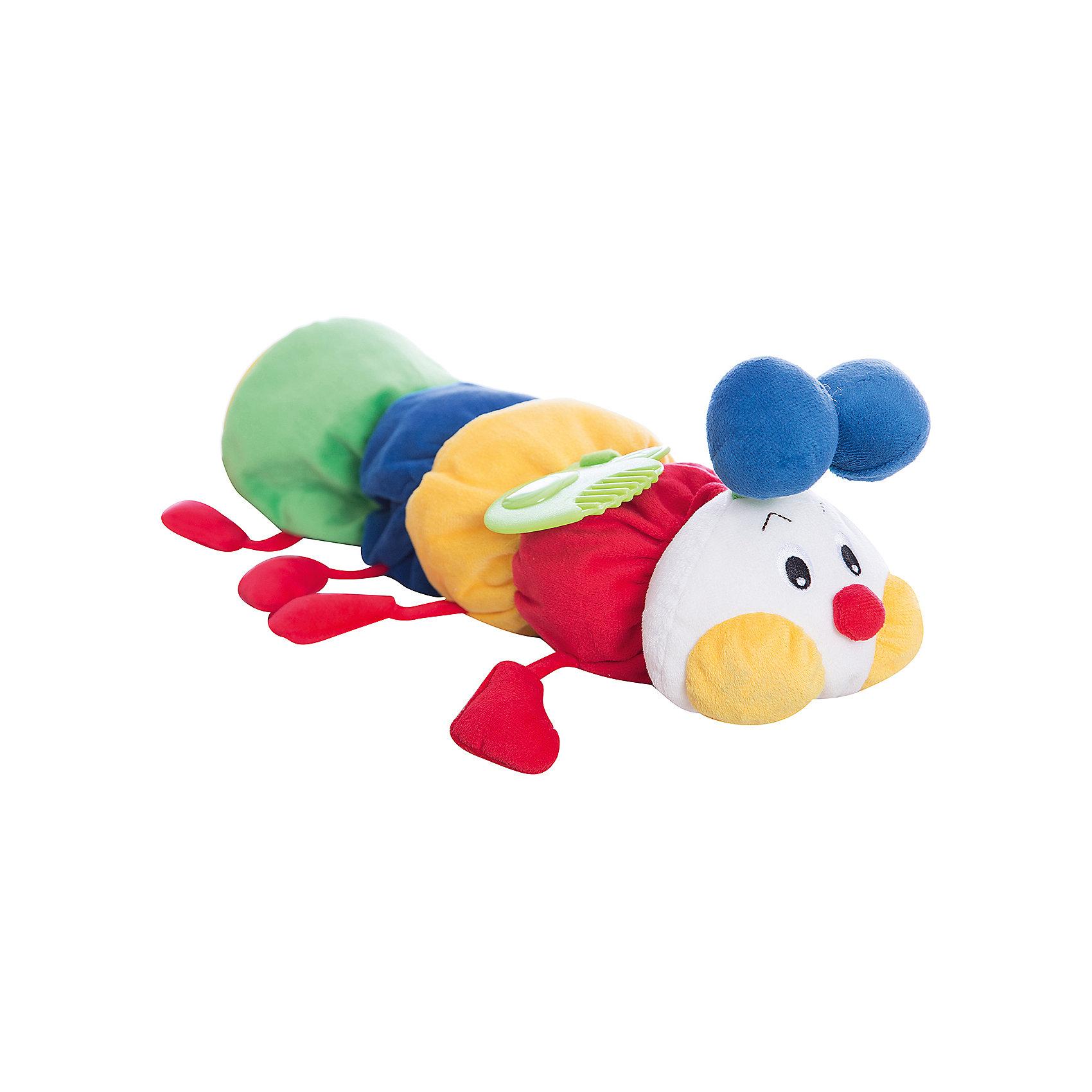 Развивающая мягкая игрушка Гусеничка с прорезывателем, Ks KidsИгрушка-сортер Гусеничка, Ks Kids (Кс Кидс)  ? развивающая многофункциональная игрушка, предназначенная самого раннего возраста. Игрушка-сортер выполнена из высококачественных гипоаллергенных материалов, приятных на ощупь. Гусеничка состоит из 5 деталей: милая мордочка с яркими элементами и 4 мягких блока-кубика. Каждый блок наделен своими особенностями: на одном имеется прорезыватель, на втором ? безопасное зеркальце, на третьем ? шуршащий листочек, а в четвертом ?тзвенящий элемент внутри кубика. Между собой кубики соединяются благодаря отверстиям и выпуклым элементам в форме геометрических фигур. Поэтому, собрать в произвольном порядке тело гусенички не получится, что имеет достаточно важный обучающий смысл.<br>Игрушка-сортер Гусеничка, Ks Kids (Кс Кидс)  ? игрушка, с которой ваш ребенок легко освоит простейшие конструкторские навыки. Функциональные элементы сортера будут способствовать развитию интеллектуальных способностей, пространственного и логического мышления. Для самых маленьких гусеничка будет эффективна с целью развития зрительных, тактильных и слуховых способностей.<br><br>Дополнительная информация:<br><br>- Вид игр: развивающие<br>- Предназначение: для дома, для детского сада, для детских развивающих центров<br>- Материал: текстиль<br>- Размер: 48*13*12 см<br>- Вес: 475 г<br>- Особенности ухода: допускается ручная стирка<br><br>Подробнее:<br><br>• Для детей в возрасте: от 0 года до 1 года<br>• Страна производитель: Китай<br>• Торговый бренд: Ks Kids (Кс Кидс)<br><br>Игрушку-сортер Гусеничку, Ks Kids (Кс Кидс) можно купить в нашем интернет-магазине.<br><br>Ширина мм: 480<br>Глубина мм: 130<br>Высота мм: 120<br>Вес г: 475<br>Возраст от месяцев: 0<br>Возраст до месяцев: 12<br>Пол: Унисекс<br>Возраст: Детский<br>SKU: 4799443