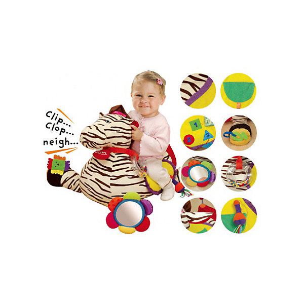 Игровой набор Зебра, Ks KidsРазвивающие центры<br>Игровой набор Зебра, Ks Kids (Кс Кидс) ? детский развивающий мягкий модуль от Ks Kids для детей от одного года. Мягкая игрушка выполнена в форме зебры, ее многофункциональность и универсальность обеспечены за счет более, чем 25 развивающих элементов: погремушки, шуршалки, лабиринт, прорезыватели, кармашки. Такая игрушка будет интересна любому малышу, ведь каждый элемент зебры ? это маленькое открытие.<br>Игровой набор Зебра, Ks Kids (Кс Кидс) выполнен из качественных материалов. Текстильные элементы устойчивы к выгоранию, обладают устойчивостью к загрязнениям.<br>Мягкий модуль прекрасно подойдет для оформления детской игровой зоны.<br>Все элементы игрового набора Зебра, Ks Kids (Кс Кидс) предназначены для комплексного сенсомоторного развития вашего малыша.<br><br>Дополнительная информация:<br><br>- Вид игр: развивающие<br>- Предназначение: для дома<br>- Материал: текстиль, пластик<br>- Размер: 44*46*45 см<br>- Вес: 1 кг 825 г<br>- Особенности ухода: отдельные элементы разрешается мыть в теплой мыльной воде<br><br>Подробнее:<br><br>• Для детей в возрасте: от 0 месяцев до 1 года<br>• Страна производитель: Китай<br>• Торговый бренд: Ks Kids (Кс Кидс)<br><br>Игровой набор Зебра, Ks Kids (Кс Кидс) можно купить в нашем интернет-магазине.<br><br>Ширина мм: 440<br>Глубина мм: 460<br>Высота мм: 450<br>Вес г: 1825<br>Возраст от месяцев: 0<br>Возраст до месяцев: 12<br>Пол: Унисекс<br>Возраст: Детский<br>SKU: 4799449
