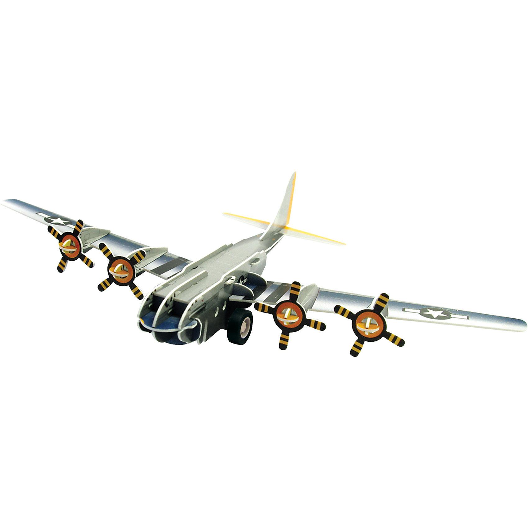 3D Пазл Бомбардировщик B-17 инерционный, 38 деталей