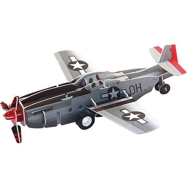 3D Пазл Истребитель P-51 инерционный, 20 деталей