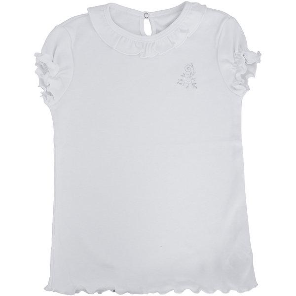 Футболка с длинным рукавом для девочки Белый снегБлузки и рубашки<br>Футболка с длинным рукавом для девочки от российской марки Белый снег.<br>Состав:<br>100%хлопок<br><br>Ширина мм: 230<br>Глубина мм: 40<br>Высота мм: 220<br>Вес г: 250<br>Цвет: белый<br>Возраст от месяцев: 84<br>Возраст до месяцев: 96<br>Пол: Женский<br>Возраст: Детский<br>Размер: 110/116,122/128,98/104,158,152,140/146,134<br>SKU: 4800889
