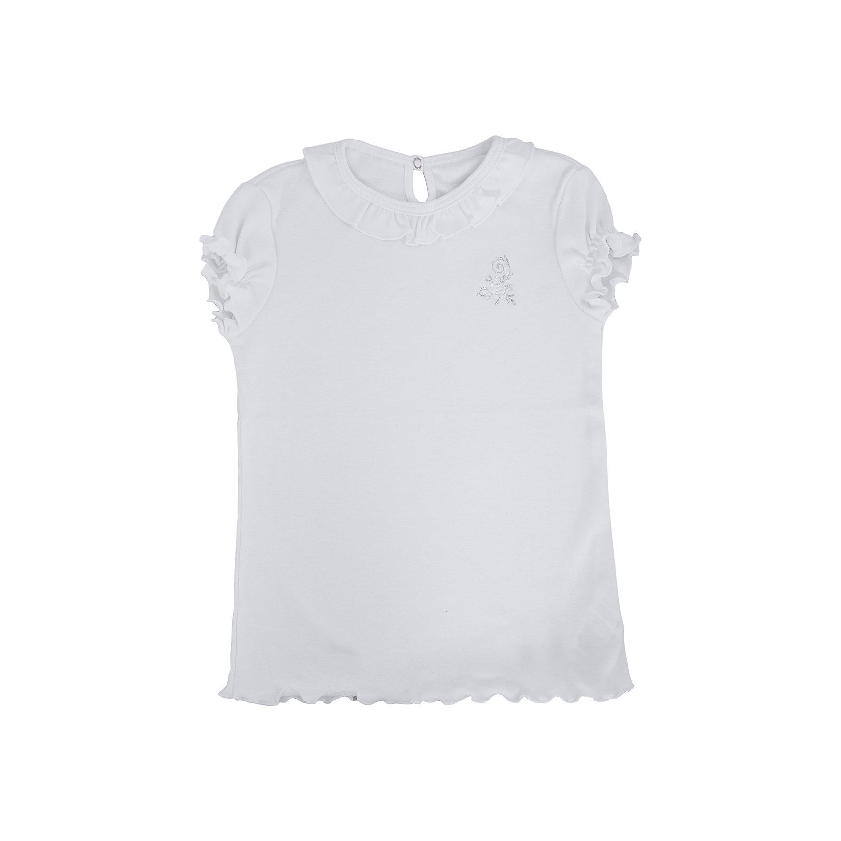 Футболка с длинным рукавом для девочки Белый снегБлузки и рубашки<br>Футболка с длинным рукавом для девочки от российской марки Белый снег.<br>Состав:<br>100%хлопок<br><br>Ширина мм: 230<br>Глубина мм: 40<br>Высота мм: 220<br>Вес г: 250<br>Цвет: белый<br>Возраст от месяцев: 84<br>Возраст до месяцев: 96<br>Пол: Женский<br>Возраст: Детский<br>Размер: 110/116,98/104,122/128,134,140/146,152,158<br>SKU: 4800889