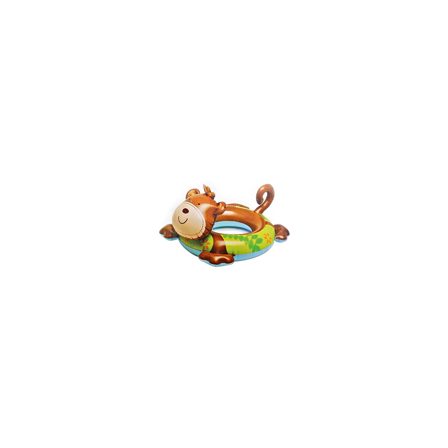 Детский надувной круг Зверюшка - Обезьянка, IntexКруги и нарукавники<br>Характеристики товара:<br><br>• размер: 81x56 см.<br>• толщина винила 0,20 мм.<br>• максимальная нагрузка до 20 кг.<br>• гладкий внутренний шов<br>• двойной клапан<br><br>Детский надувной круг от Intex (Интекс), выполненный в виде очаровательной обезьянки, замечательно подойдет для обучения малыша плаванию. <br><br>Круг изготовлен из прочного винила, его окраска нанесена не сверху, а как бы пропитывает материал, поэтому не стирается и не выцветает. <br><br>Двойной клапан исключает случайное травление воздуха. <br><br>Детский надувной круг Зверюшка, Intex (Интекс) можно купить в нашем интернет-магазине.<br><br>Ширина мм: 190<br>Глубина мм: 128<br>Высота мм: 40<br>Вес г: 280<br>Возраст от месяцев: 36<br>Возраст до месяцев: 72<br>Пол: Унисекс<br>Возраст: Детский<br>SKU: 4801492