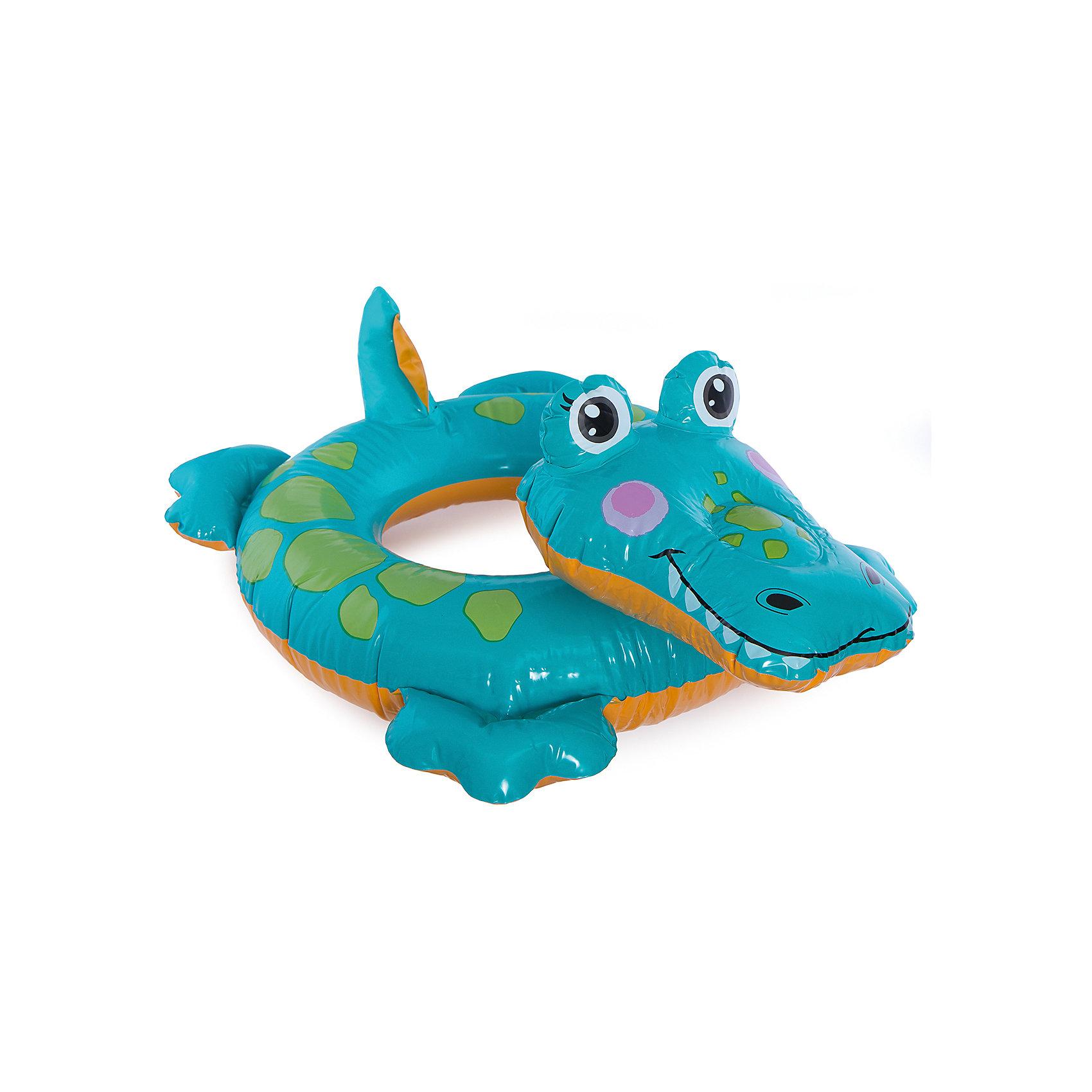 Intex Детский надувной круг Зверюшка - Крокодил, Intex intex надувной круг для плавания 76 см