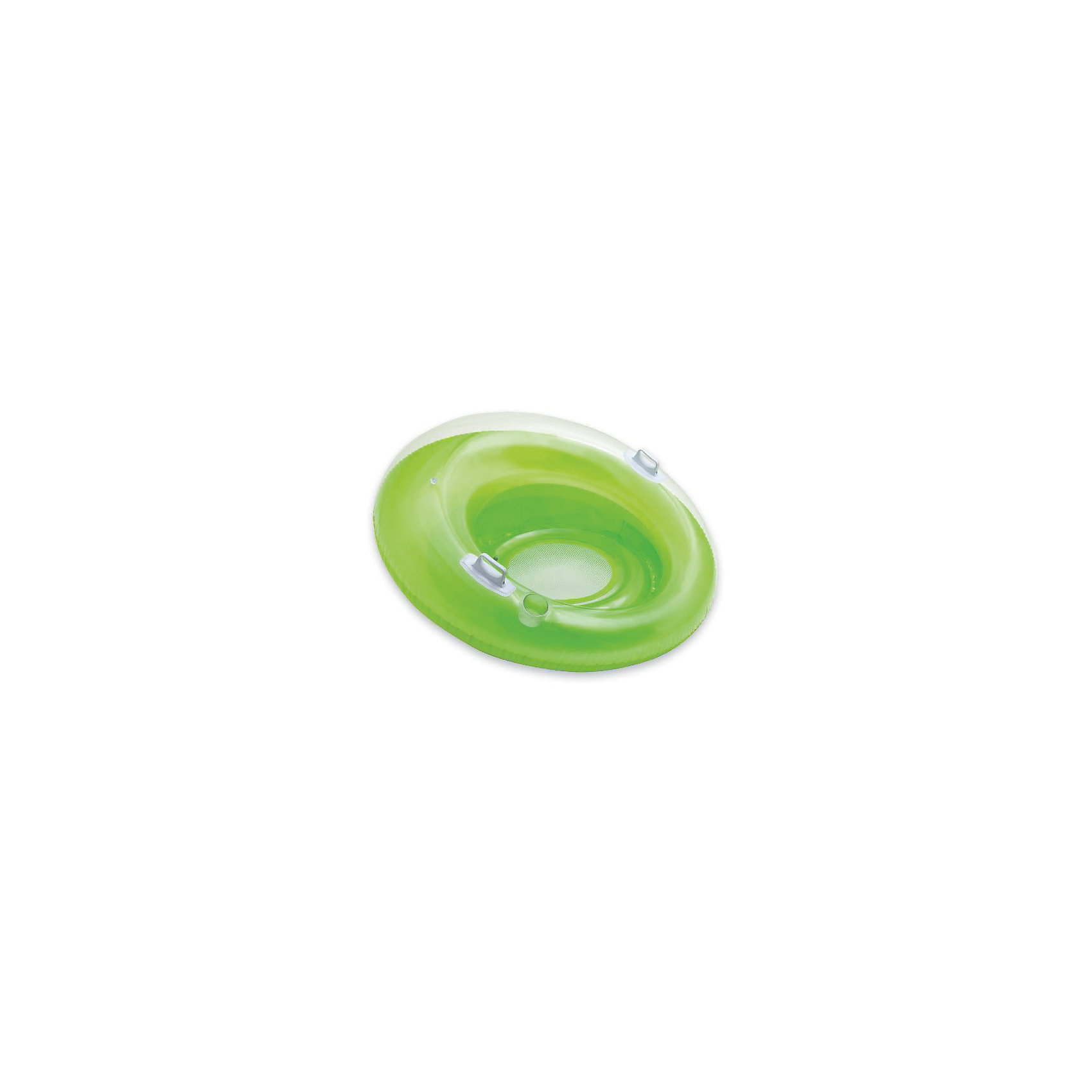 Надувной круг с дном Садись и отдыхай (зеленый), IntexКруги и нарукавники<br>Характеристики товара:<br><br>• цвет: в ассортименте<br>• диаметр: 119 см.<br>• внутренний диаметр: 50 см.<br>• материал: ПВХ (винил) толщина 0,3 мм. <br>• размер упаковки: 23х20х8 см.<br>• вес: 1,4 кг. <br><br>Большой надувной круг Садись и отдыхай с удобными пластиковыми ручками и углублением для стакана будет большой радостью детям и взрослым летом на водоеме. <br><br>У круга две воздушные камеры, дно - сетчатое. <br><br>Гладкий внутренний шов не будет натирать кожу. <br><br>В нем можно комфортно расположиться, не боясь выпасть.<br><br>В сложенном состоянии круг, имеет небольшие размеры, что позволяет брать его с собой в любое путешествие. <br><br>Надувной круг с дном Садись и отдыхай, Intex (Интекс) можно купить в нашем интернет-магазине.<br><br>Ширина мм: 258<br>Глубина мм: 231<br>Высота мм: 104<br>Вес г: 1367<br>Возраст от месяцев: 96<br>Возраст до месяцев: 1164<br>Пол: Унисекс<br>Возраст: Детский<br>SKU: 4801497
