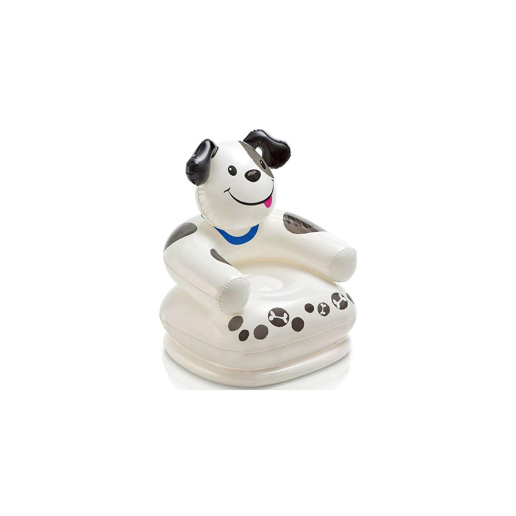 Intex Детское надувное кресло Веселые звери -Собака, Intex кресло мешок купить в магазине