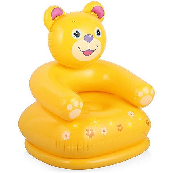 Детское надувное кресло Веселые звери -Медведь, IntexДомики и мебель<br>Характеристики товара:<br><br>• цвет: желтый<br>• размер: 65x64x74 см <br>• допустимая нагрузка: до 55 кг.  <br>• материал: винил <br>• вес: 1 кг.  <br><br>Необычное надувное кресло Веселые звери для детей, выполненное в виде медведя Тедди станет самым любимым предметом интерьера в детской комнате! <br><br>Устойчивое, мягкое, обеспечит комфорт и удобство вашему ребенку. <br><br>Надувное кресло Веселые звери выполнено из прочного и мягкого винила.<br><br> Его можно использовать и дома и на природе.  <br><br>Детское надувное кресло Веселые звери, Intex (Интекс) можно купить в нашем интернет-магазине.<br><br>Ширина мм: 233<br>Глубина мм: 205<br>Высота мм: 67<br>Вес г: 936<br>Возраст от месяцев: 36<br>Возраст до месяцев: 96<br>Пол: Унисекс<br>Возраст: Детский<br>SKU: 4801500