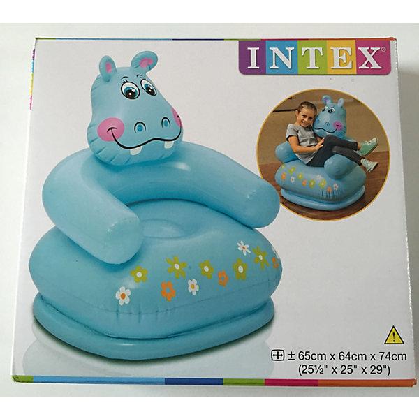 Детское надувное кресло Веселые звери - Гиппопотам, IntexИгровые центры<br>Характеристики товара:<br><br>• размер: 65x64x74 см <br>• допустимая нагрузка: до 55 кг<br>• материал: винил <br>• вес: 1 кг<br><br>Необычное надувное кресло для детей, выполненное в виде гиппопотама станет самым любимым предметом интерьера в детской комнате! <br><br>Устойчивое, мягкое, обеспечит комфорт и удобство вашему ребенку. <br><br>Его можно использовать и дома и на природе.  <br><br>Детское надувное кресло Веселые звери, Intex (Интекс) можно купить в нашем интернет-магазине.<br><br>Ширина мм: 233<br>Глубина мм: 205<br>Высота мм: 67<br>Вес г: 936<br>Возраст от месяцев: 36<br>Возраст до месяцев: 96<br>Пол: Унисекс<br>Возраст: Детский<br>SKU: 4801501