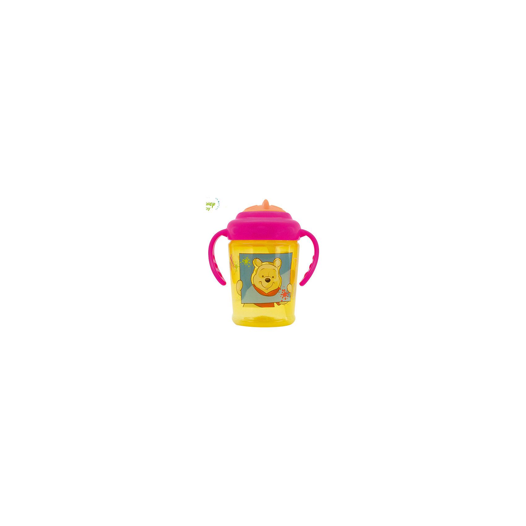 Поильник Мои друзья Тигруля и Винни  DISNEY  от 6 мес., 250 мл., LUBBY, желтый/розовПоильники<br>Поильник с трубочкой Мои друзья Тигруля и Винни будет незаменимым помощником в качестве первого поильника с трубочкой.  Прозрачность  бутылочки поильника  позволяет точно определить количество жидкости внутри, а  яркий дизайн привлечет внимание ребенка.  У поильника удобная форма ручек, что позволит Вашему малышу самому держать поильник. Крышечка поильника надежно защитит его от загрязнений и проливания жидкости.<br>Перед первым использованием необходимо прокипятить изделие в течение 5 минут. В дальнейшем перед каждым использованием кружку необходимо мыть теплой водой с мылом, тщательно ополаскивать. Можно мыть в посудомоечной машине.<br><br>Дополнительная информация: <br> <br>- состав: бутылочка, крышка, ручки - полипропилен (РР), трубочка - силикон<br>- срок службы: поильник - 1 год, трубочка - 45 дней<br>- объем: 250 мл.<br><br>Поильник Мои друзья Тигруля и Винни с трубочкой можно купить в нашем интернет-магазине.<br><br>Ширина мм: 250<br>Глубина мм: 150<br>Высота мм: 150<br>Вес г: 350<br>Возраст от месяцев: 6<br>Возраст до месяцев: 36<br>Пол: Унисекс<br>Возраст: Детский<br>SKU: 4801524
