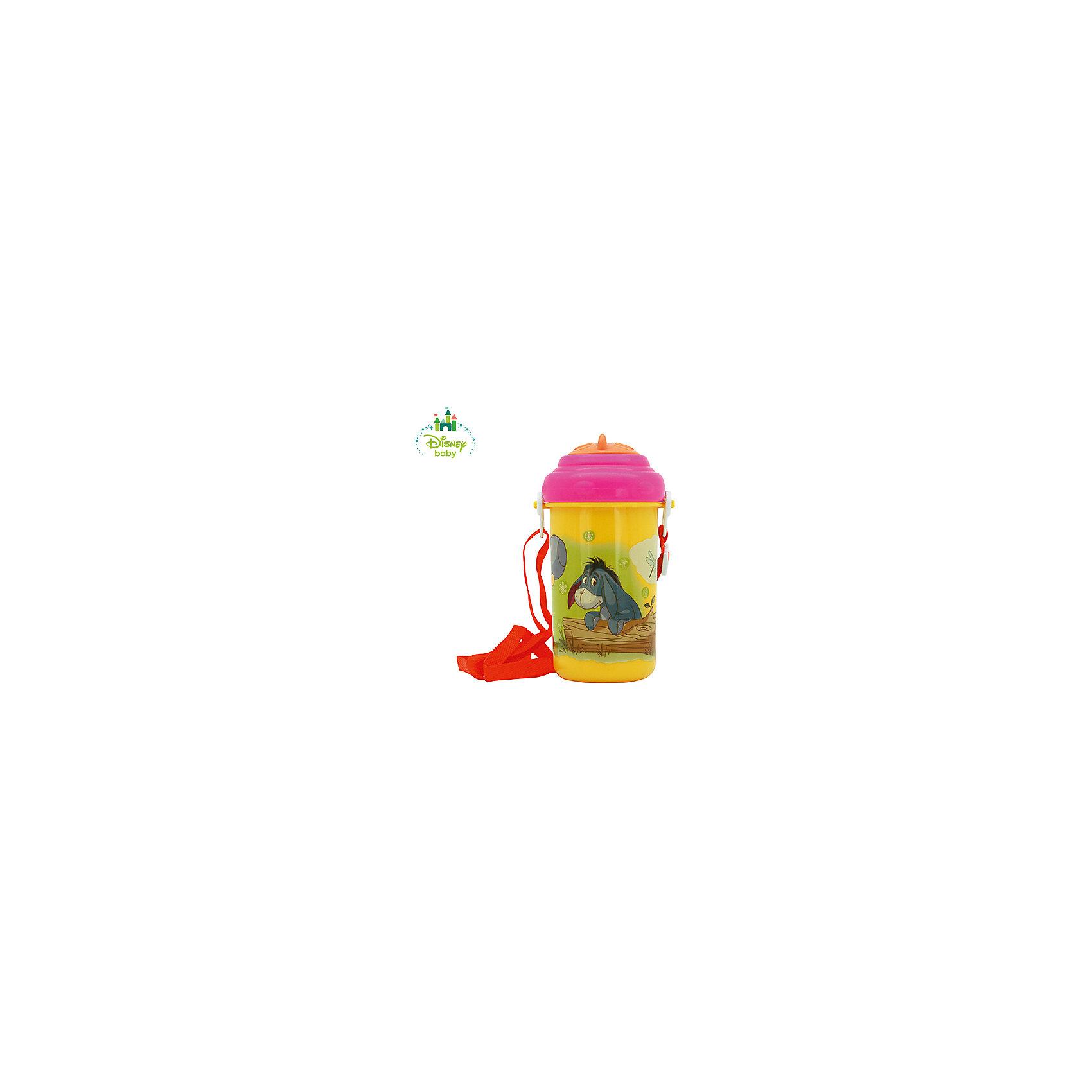 Поильник Медвежонок Винни DISNEY от 6 мес., 360 мл., LUBBY, желтый/розовыйПоильники<br>Поильник с трубочкой для любителей пускать пузыри!<br>У поильника Медвежонок Винни с трубочкой и ремешком есть специальная сдвигаемая крышечка, которая обеспечивает защиту от микробов. Благодаря тому, что крышечка не съемная ее невозможно потерять. А с помощью специального ремешка, поильник легко может носить как мамочка, так и ребенок.<br>Яркий дизайн поильника с изображением героев Дисней сделает его любимым для Малыша.<br>Перед первым использованием необходимо прокипятить изделие в течение 5 минут. В дальнейшем перед каждым использованием кружку необходимо мыть теплой водой с мылом, тщательно ополаскивать. Можно мыть в посудомоечной машине.<br><br>Дополнительная информация: <br><br>- состав: полипропилен, силикон<br>- срок службы: 1 год<br>- размер единичной упаковки (дхшхв) : 90*160*80<br><br>Поильник Медвежонок Винни с трубочкой и ремешком можно купить в нашем интернет-магазине.<br><br>Ширина мм: 90<br>Глубина мм: 160<br>Высота мм: 80<br>Вес г: 350<br>Возраст от месяцев: 6<br>Возраст до месяцев: 36<br>Пол: Унисекс<br>Возраст: Детский<br>SKU: 4801549