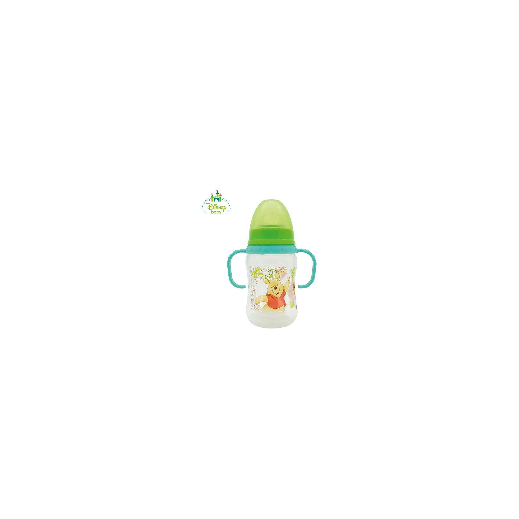 Бутылочка Медвежонок Винни DISNEY от 6 мес., 250 мл., LUBBY, зеленый/бирюзовыйБутылочка Медвежонок Винни с молочной силиконовой соской (размер М, средний поток) поможет   накормить Вашего малыша. С учетом возраста ребенка и для разного типа жидкостей используйте соски LUBBY различного потока (S, M, L, Х - для густой пищи). В комплекте к бутылочке Медвежонок Винни прилагается дополнительный мягкий наконечник, превращая бутылочку в поильник. А ручки и точная нестираемая шкала делают его незаменим, как для малышей, так и для мамочек.<br><br>Дополнительная информация: <br><br>- состав: полипропилен (pp), силикон<br>- срок службы: бутылочки - 1 год, соски - 45 дней<br>- размер единичной упаковки (дхшхв) : 73 * 165 * 100<br>- объем: 250 мл.<br><br>Бутылочка Медвежонок Винни с соской, носиком и ручками можно купить в нашем интернет-магазине.<br><br>Ширина мм: 350<br>Глубина мм: 200<br>Высота мм: 150<br>Вес г: 350<br>Возраст от месяцев: 6<br>Возраст до месяцев: 36<br>Пол: Унисекс<br>Возраст: Детский<br>SKU: 4801551