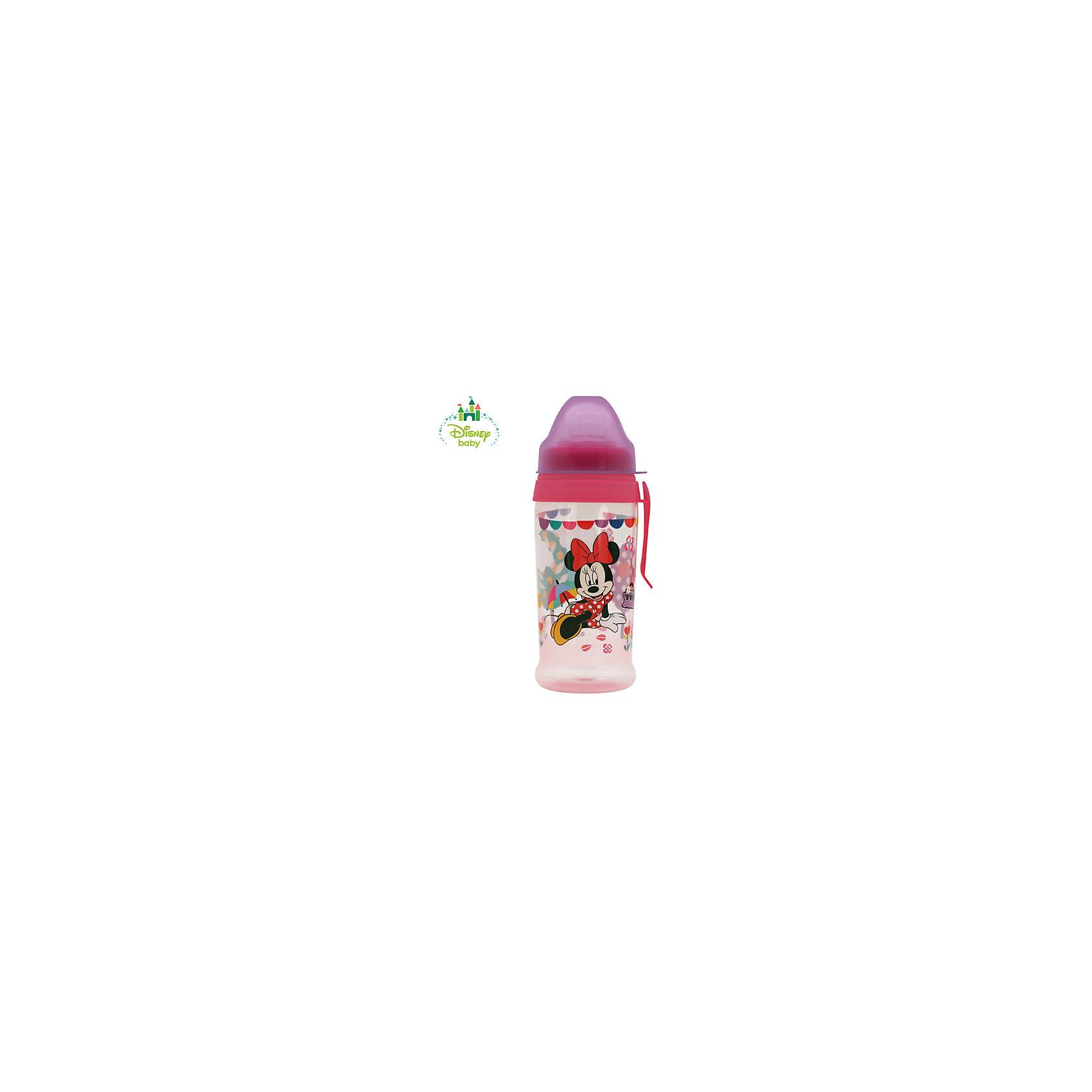 Поильник Минни DISNEY с мягким носиком, от 6 мес. 360 мл., LUBBY, розовый/сиреневыйПоильники<br>Поильник с мягким носиком подойдет уже подросшим малышам, у которых только появляются передние зубки. У поильника   мягкий силиконовой носик, который будет напоминать Вашему ребенку бутылочку или соску-пустышку и это сделает комфортным и безопасным переход кормления без использования соски, а так же нежные десны малыша не поранятся.<br>Форма носика у поильника  Микки и Минни  не дает  проливаться жидкости, если ребенок уронил или перевернул поильник. Если Вы какое-то время не используете поильник , то крышка защитит его носик от загрязнения. У поильник есть клипса, которая   крепиться  к коляске малыша, на ремень сумки, либо на пояс мамы.<br>Яркий дизайн поильника с изображением героев Дисней сделает его любимым для Малыша.<br>Перед первым использованием необходимо прокипятить изделие в течение 5 минут. В дальнейшем перед каждым использованием кружку необходимо мыть теплой водой с мылом, тщательно ополаскивать. Можно мыть в посудомоечной машине.<br><br>Дополнительная информация: <br><br>- состав: полипропилен, силикон<br>- срок службы: 1 год<br>- размер единичной упаковки (дхшхв) : 90*220*72<br>- объем: 360 мл. <br><br>Поильник Микки и Минни с мягким носиком и клипсой  можно купить в нашем интернет-магазине.<br><br>Ширина мм: 80<br>Глубина мм: 160<br>Высота мм: 80<br>Вес г: 350<br>Возраст от месяцев: 6<br>Возраст до месяцев: 36<br>Пол: Унисекс<br>Возраст: Детский<br>SKU: 4801554
