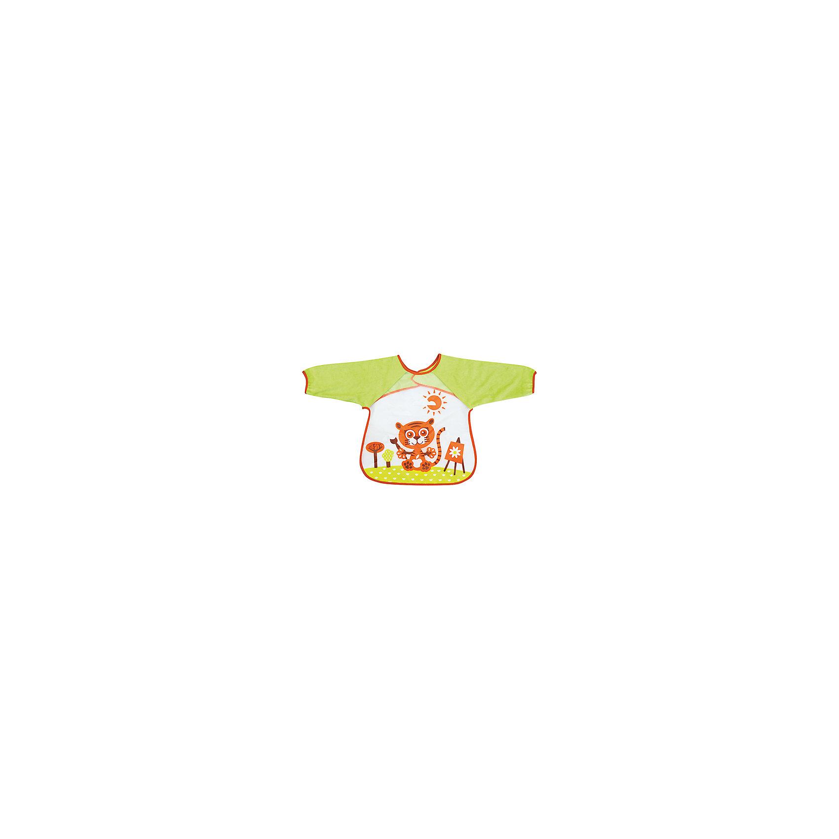 Нагрудник с рукавами В мире животных от 12 мес., LUBBYНепромокаемый нагрудник В мире животных торговой  марки LUBBY защитит одежду Вашего малыша, как время кормления, так во время творчества.  Липучка легко фиксирует нагрудник на шее ребенка и также быстро поможет  снять изделие при необходимости. Рукава на резинках позволяют сохранить ручки Малыша чистыми.  Материал нагрудника  изготовлен из мягкой клеёнки. Яркая и красивая расцветка  нагрудника превращает процесс кормления в интересную игру. Необычные  иллюстрации  на нагруднике обязательно понравятся всем малышам. Вы можете распечатать иллюстрации, изображенные на слюнявчиках LUBBY. Для этого перейдите по ссылке в раздел ИдейКА. Распечатайте раскраску и творите вместе с Вашим Малышом! <br><br>Дополнительная информация: <br><br>- состав: мягкая клеёнка (eva)<br>- срок службы: 1 год<br>- размер единичной упаковки (дхшхв) : 32 * 3 * 29<br>- размер нагрудника: 35*43см.<br><br>Нагрудник с карманом на завязках В мире животных торговой  марки LUBBY можно купить в нашем интернет-магазине.<br><br>Ширина мм: 15<br>Глубина мм: 10<br>Высота мм: 210<br>Вес г: 350<br>Возраст от месяцев: 0<br>Возраст до месяцев: 36<br>Пол: Унисекс<br>Возраст: Детский<br>SKU: 4801567