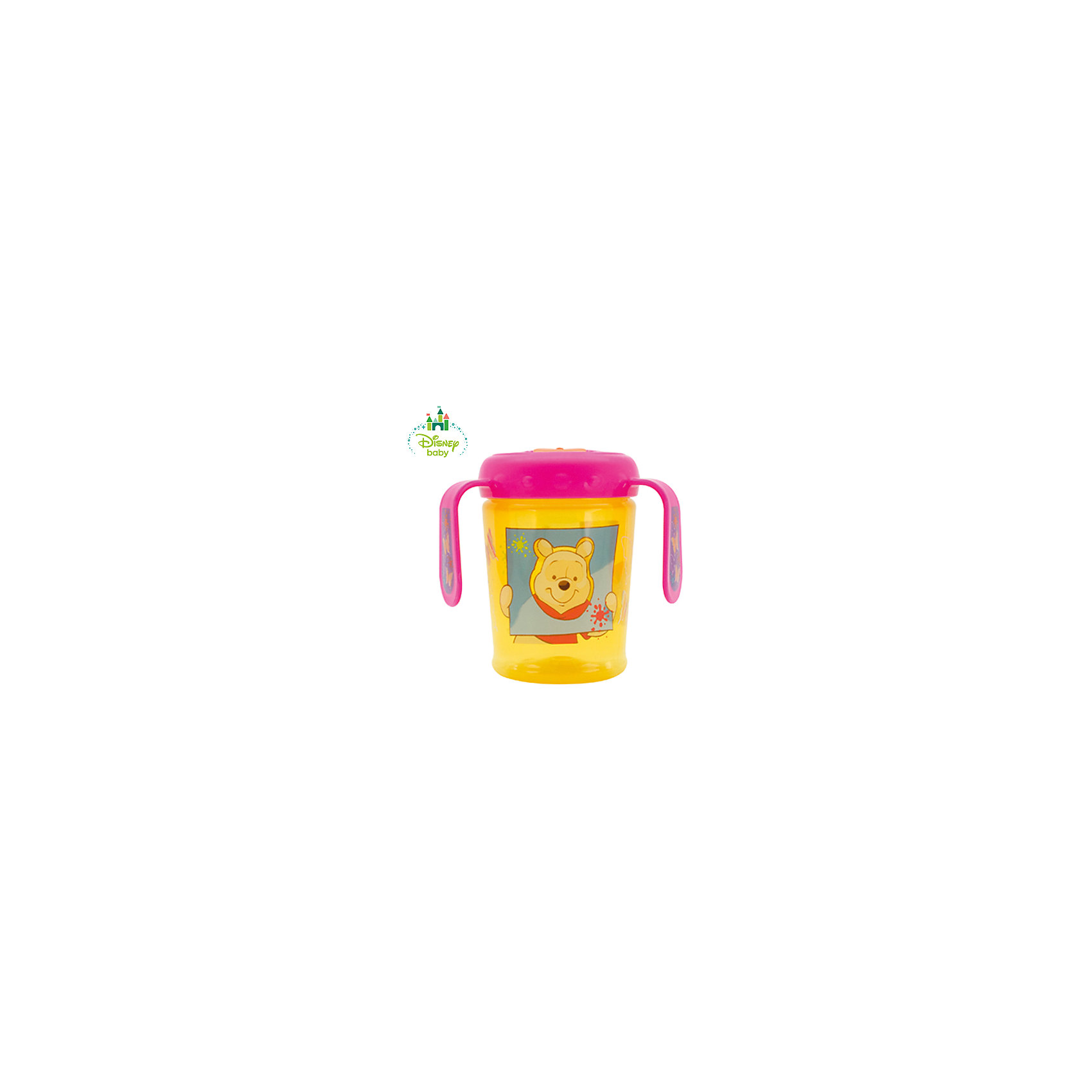 Поильник Винни Пух DISNEY  от 6 мес. 250 мл., LUBBY, желтый/розовыйПоильники<br>Поильник со складным носиком Мои друзья Тигруля и Винни идеален для малышей, у которых уже есть зубки. Удобная шкала и прозрачность поильника позволяет контролировать количество жидкости . Ручки поильника комфортны  как родителям , так и малышу.Специальная форма носика превращает поильник в непроливайку для этого необходимо сложить носик в горизонтальное положение. Яркий дизайн с любимыми героями привлечет внимание малыша. <br><br>Дополнительная информация: <br><br>- состав: полипропилен (pp)<br>- срок службы: 1<br>- объем: 250 мл.<br><br>Внимание!!! Основным является первое фото, последующие фотографии размещены с целью показать функционал данной модели.<br><br>Поильник Мои друзья Тигруля и Винни со складным носиком можно купить в нашем интернет-магазине.<br><br>Ширина мм: 80<br>Глубина мм: 160<br>Высота мм: 80<br>Вес г: 350<br>Возраст от месяцев: 6<br>Возраст до месяцев: 36<br>Пол: Унисекс<br>Возраст: Детский<br>SKU: 4801569