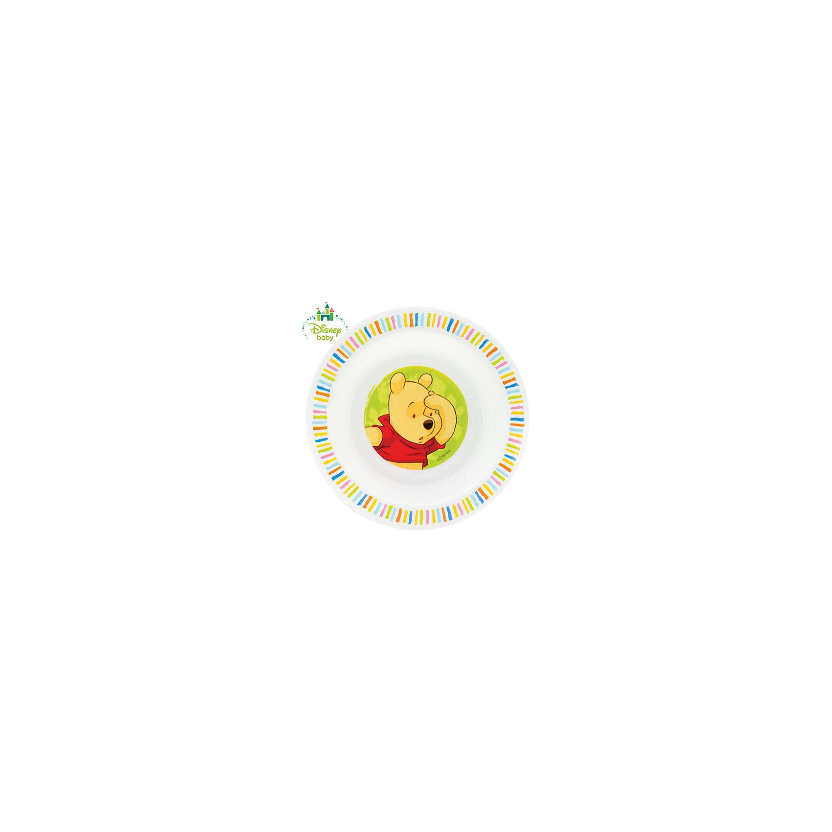 Тарелка Мои друзья Тигруля и Винни с присоской DISNEY от 6 мес., LUBBY, белыйТарелка с присоской Мои друзья Тигруля и Винни подойдет Вашему малышу, когда он учиться кушаться самостоятельно. Яркий рисунок на дне тарелки  смотивирует  малыша доесть все до конца и превратит прием пищи в увлекательную  игру. Присоска фиксирует тарелку на любых гладких поверхностях.<br>Перед первым использованием и после каждого применения мойте изделия в теплой воде с мылом, отделив все части тарелки. Можно мыть в посудомоечной машине (предварительно сняв присоску).<br><br>Дополнительная информация: <br><br>- состав: полипропилен (pp), присоска - термопластичная резина (рр)<br>- срок службы: 1 год<br><br> Тарелку на присоске Мои друзья Тигруля и Винни можно купить в нашем интернет-магазине.<br><br>Ширина мм: 450<br>Глубина мм: 100<br>Высота мм: 450<br>Вес г: 350<br>Возраст от месяцев: 6<br>Возраст до месяцев: 36<br>Пол: Унисекс<br>Возраст: Детский<br>SKU: 4801570