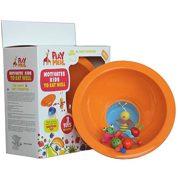 Тарелка+ 3 деревянные игрушки Букашки, PLAYMEALДетская посуда<br>Тарелка+ 3 деревянные игрушки Букашки – это прекрасное решение для детишек, которые малоежки! Тарелка PLAYMEAL + 3 деревянные игрушки в красивой подарочной упаковке. У тарелки есть прозрачное дно и потайной отсек для сюрприза. Ребенок может увидеть сюрприз только тогда, когда все съест! Можно использовать свои игрушки, если они подходят по размеру. Размер отсека для сюрприза: диаметр - 61 мм, высота - 34 мм. Это может быть как игрушка, так, и какая-нибудь вкусняшка  (мармелад или печенье) - любой сюрприз, которым Вы хотите порадовать малыша. Тарелка PlayMeal — это разработка молодой мамы. Тарелка призвана в мягкой игровой форме поможет приучить ребенка к здоровой еде.<br><br>Дополнительная информация: <br><br>- материал: сертифицированный пищевой пластик.<br> - подходит для посудомоечной машины и микроволновой печи  <br>- нескользящее силиконовое покрытие дна уже по достоинству оценили множество мам и пап разных стран, попробуйте  и Вы!<br><br>Тарелку+ 3 деревянные игрушки Букашки, Playmeal  можно купить в нашем интернет-магазине.<br><br>Ширина мм: 250<br>Глубина мм: 150<br>Высота мм: 150<br>Вес г: 150<br>Возраст от месяцев: -2147483648<br>Возраст до месяцев: 2147483647<br>Пол: Унисекс<br>Возраст: Детский<br>SKU: 4801613