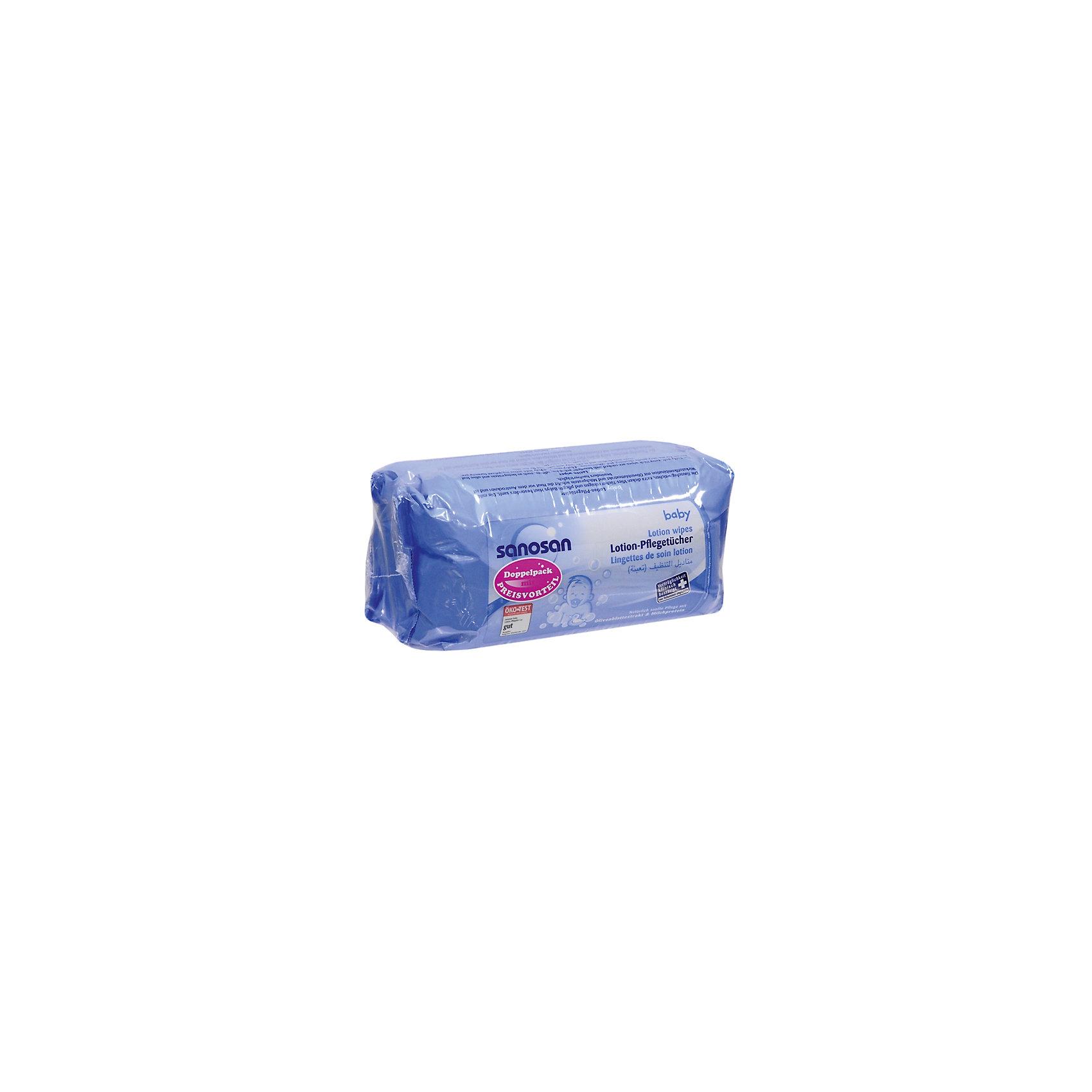 Салфетки влажные Comfort двойная упаковка 72*2 шт., SANOSAN (-)
