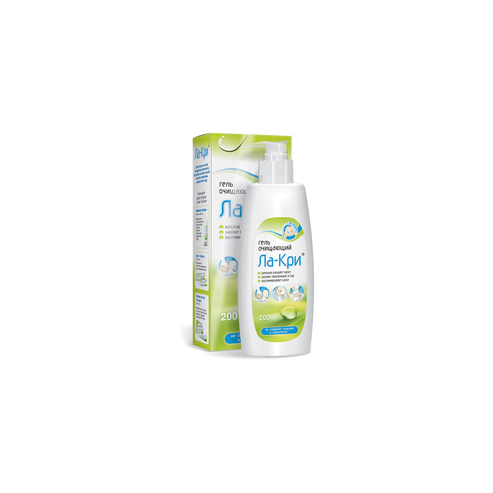 Гель очищающий 200 мл., ЛА-КРИКупание малыша<br>Очищающий гель Ла-Кри разработан для повседневного очищения кожи, имеющей склонность к зуду, покраснениям, раздражению и сухости, снижает чувствительность кожи. Очищающий гель может использоваться для гигиены рук, лица или всего тела. <br>Гель содержит  вещества на растительной основе, которые поддерживают нужный уровень влажности кожи. Гель также можно использовать в качестве пены для ванны.<br>Подходит для постоянного применения.<br>Очищающий гель Ла-Кри подходит для гигиенического ухода за чувствительной кожей Ваших мадышей.<br><br> Дополнительная информация: <br><br>- форма выпуска: 200 г.<br>- торговая марка : Вертекс<br>- страна изготовления:  Россия<br><br>Гель очищающий  Ла-Кри можно купить в нашем интернет-магазине.<br><br>Ширина мм: 250<br>Глубина мм: 150<br>Высота мм: 100<br>Вес г: 200<br>Возраст от месяцев: -2147483648<br>Возраст до месяцев: 2147483647<br>Пол: Унисекс<br>Возраст: Детский<br>SKU: 4801618