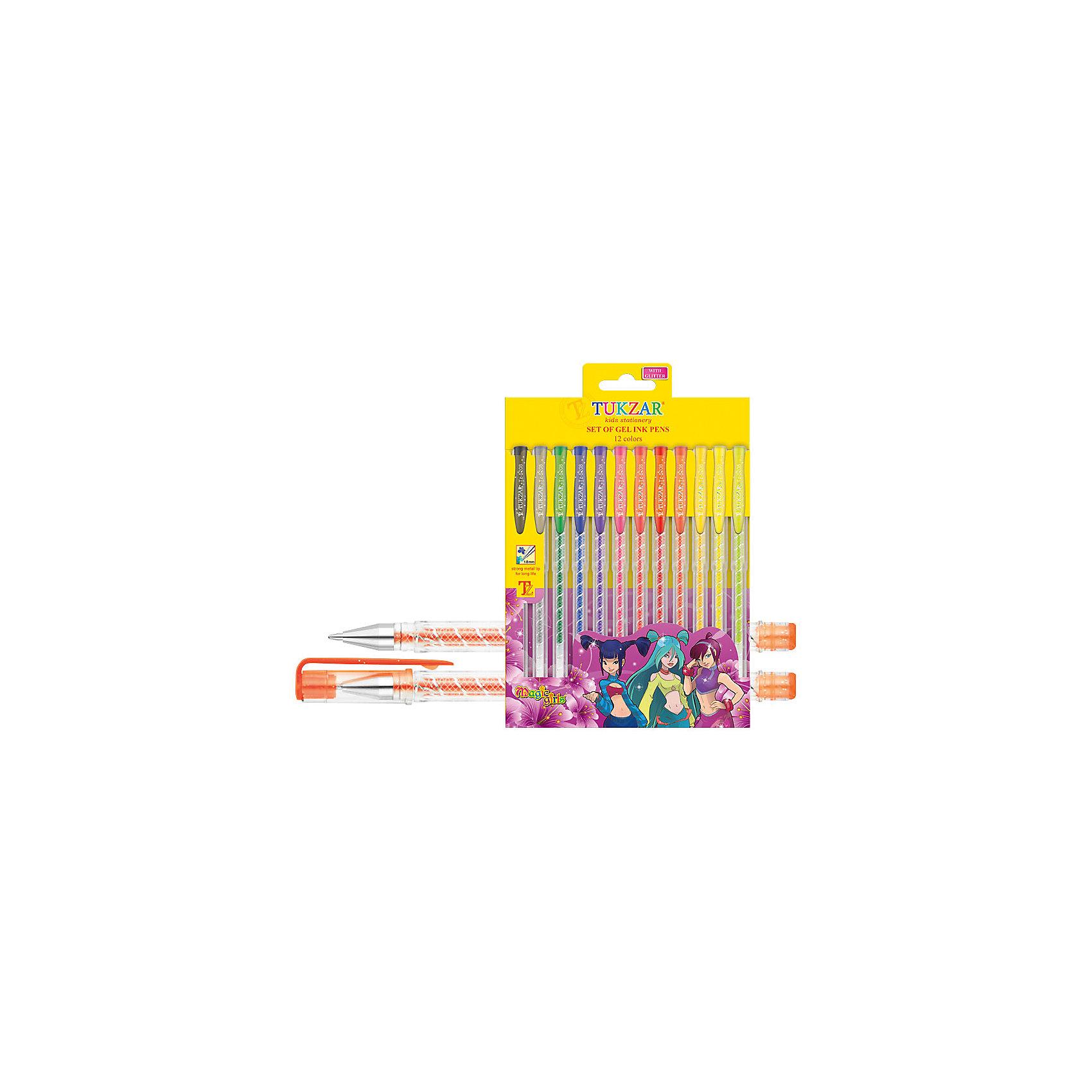 TUKZAR Набор гелевых ручек суперметаллик, 12 цв. hao yue style набор гелевых ручек 4 цвета