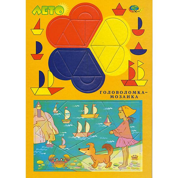 Развивающая головоломка-мозаика ЛетоМозаика<br>Для полезного и приятного общения детей и взрослых. Игра служит для развития восприятия, пространственной ориентации, мелкой моторики, внимания, фантазии, речи. Предложенные для собирания фигурки могут оказаться персонажами историй, которые Вы придумаете вместе с Вашим ребенком. Например, историю о космическом путешествии ( ракета, космонавт,….)<br><br>Ширина мм: 30<br>Глубина мм: 21<br>Высота мм: 1<br>Вес г: 140<br>Возраст от месяцев: 48<br>Возраст до месяцев: 2147483647<br>Пол: Унисекс<br>Возраст: Детский<br>SKU: 4803026