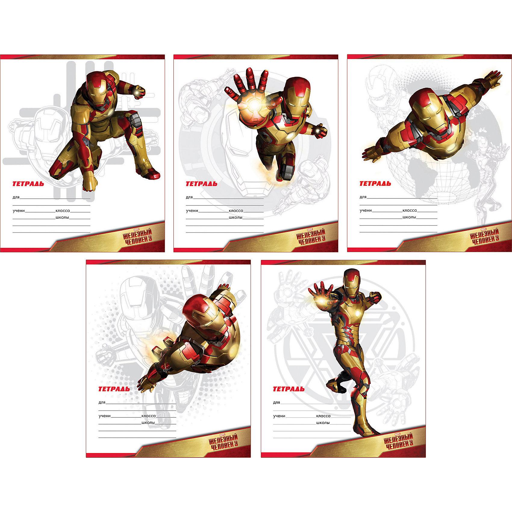 ErichKrause Школьная тетрадь Iron Man, 12 л., 10 шт., в линейку erichkrause школьная тетрадь little devil 12 л 10 шт в линейку