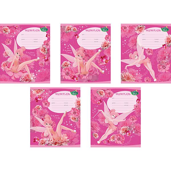 Школьная тетрадь Tink Pink, 12 л., 10 шт.Бумажная продукция<br><br>Ширина мм: 170; Глубина мм: 30; Высота мм: 202; Вес г: 363; Возраст от месяцев: 60; Возраст до месяцев: 2147483647; Пол: Женский; Возраст: Детский; SKU: 4803076;