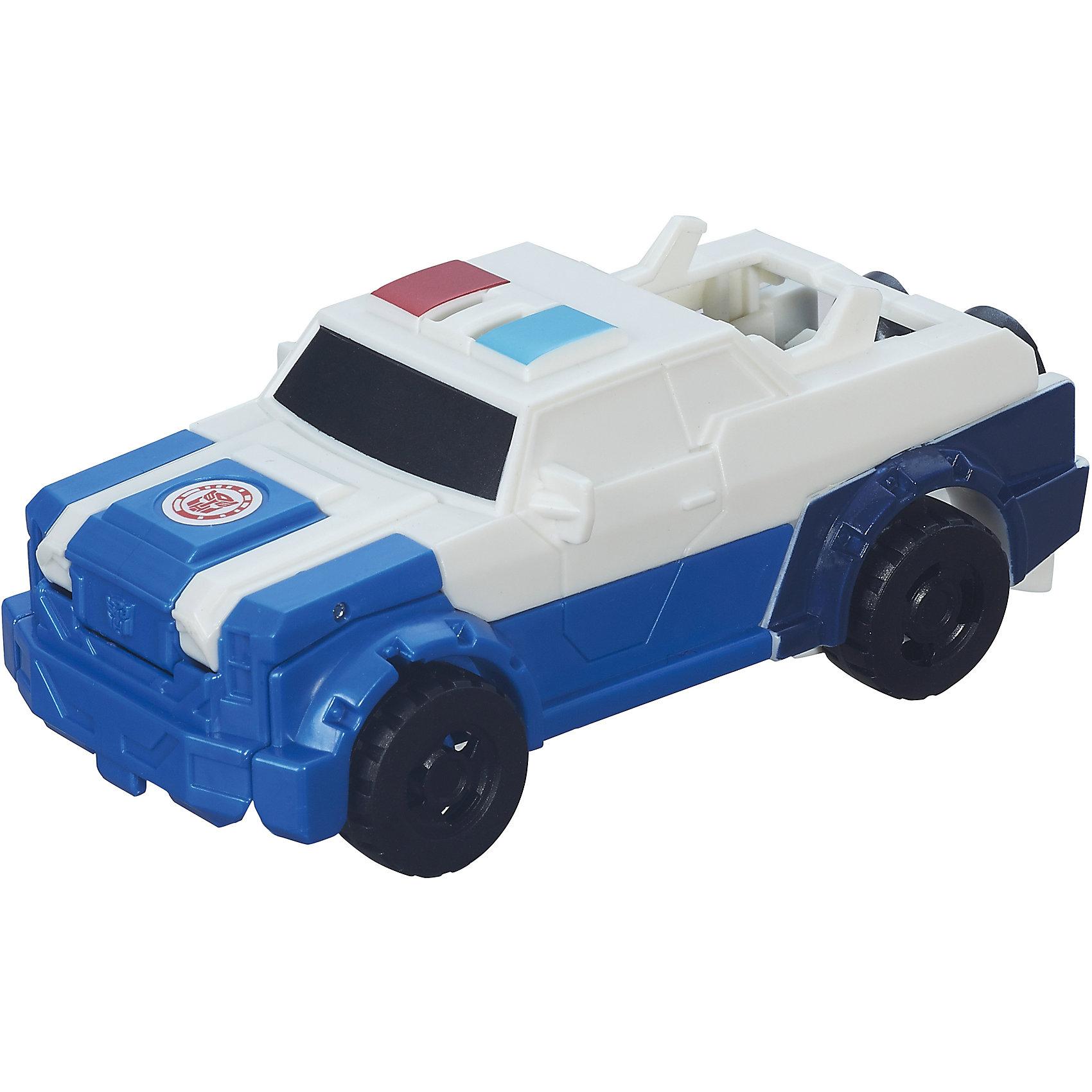 Трансформер Стронгарм, Роботс-ин-Дисгайс Уан-СтэпЛюбимые персонажи, которые трансформируются в один миг! Игрушка выполнена из высококачественного прочного пластика, прекрасно детализирована, легко и просто трансформируется всего за 5 действий. Робот имеет средний размер, ребенку удобно держать ее в руках и производить трансформации самостоятельно. Игрушки-трансформеры помогают развить мелкую моторику, логическое мышление и воображение ребенка.  Дополнительная информация:  - Комплектация: фигурка, оружие. - Размер упаковки: 15х4х15 см. - Трансформируется за 5 действий. - Материал: пластик.<br>Трансформеров Роботс-ин-Дисгайс Уан-Стэп  можно купить в нашем магазине.<br><br>Ширина мм: 178<br>Глубина мм: 151<br>Высота мм: 63<br>Вес г: 115<br>Возраст от месяцев: 60<br>Возраст до месяцев: 120<br>Пол: Мужской<br>Возраст: Детский<br>SKU: 4803357