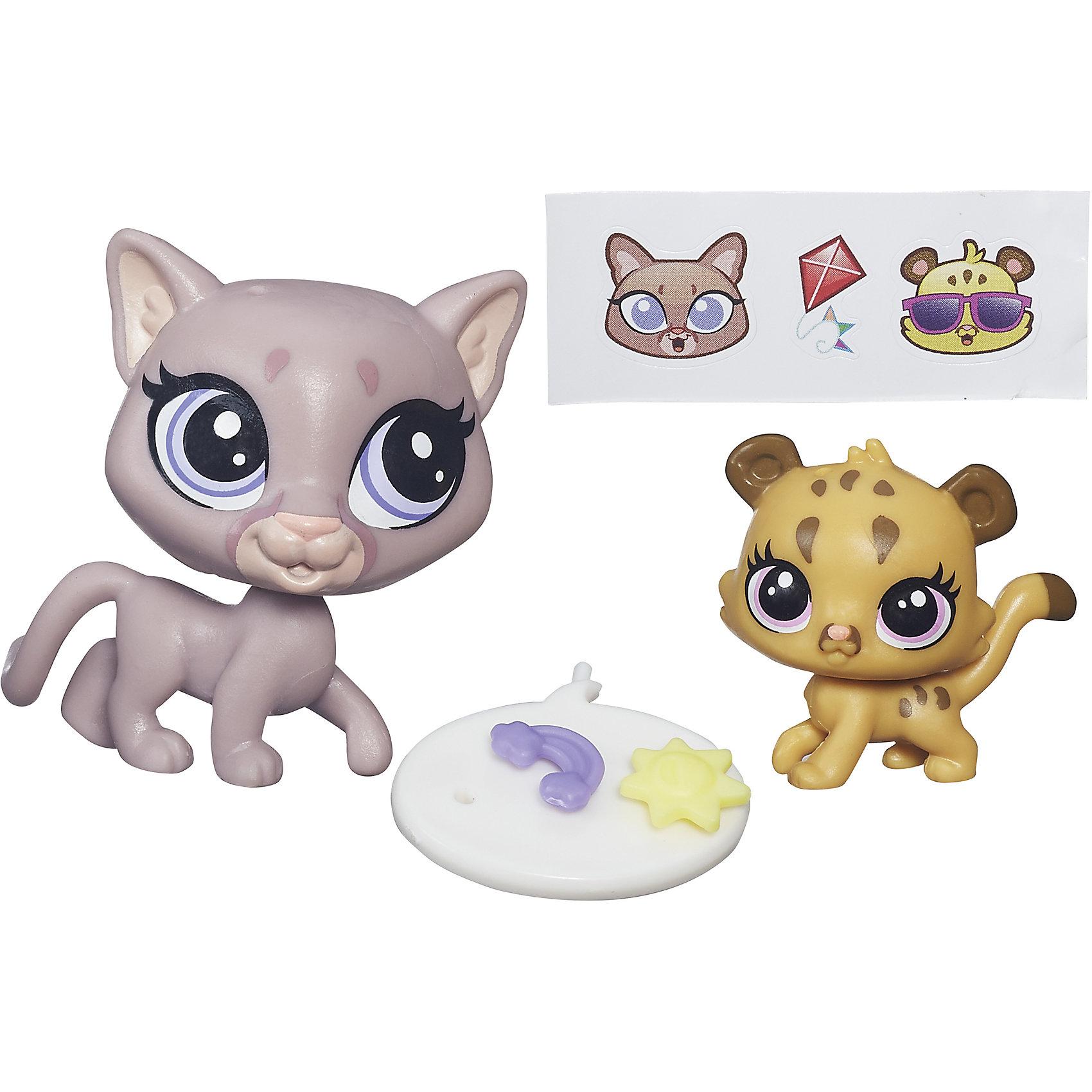Hasbro Зверюшка и ее малыш, Littlest Pet Shop, А7313/B4761 фигурка littlest pet shop зверюшка в закрытой упаковке 5 см в ассортименте