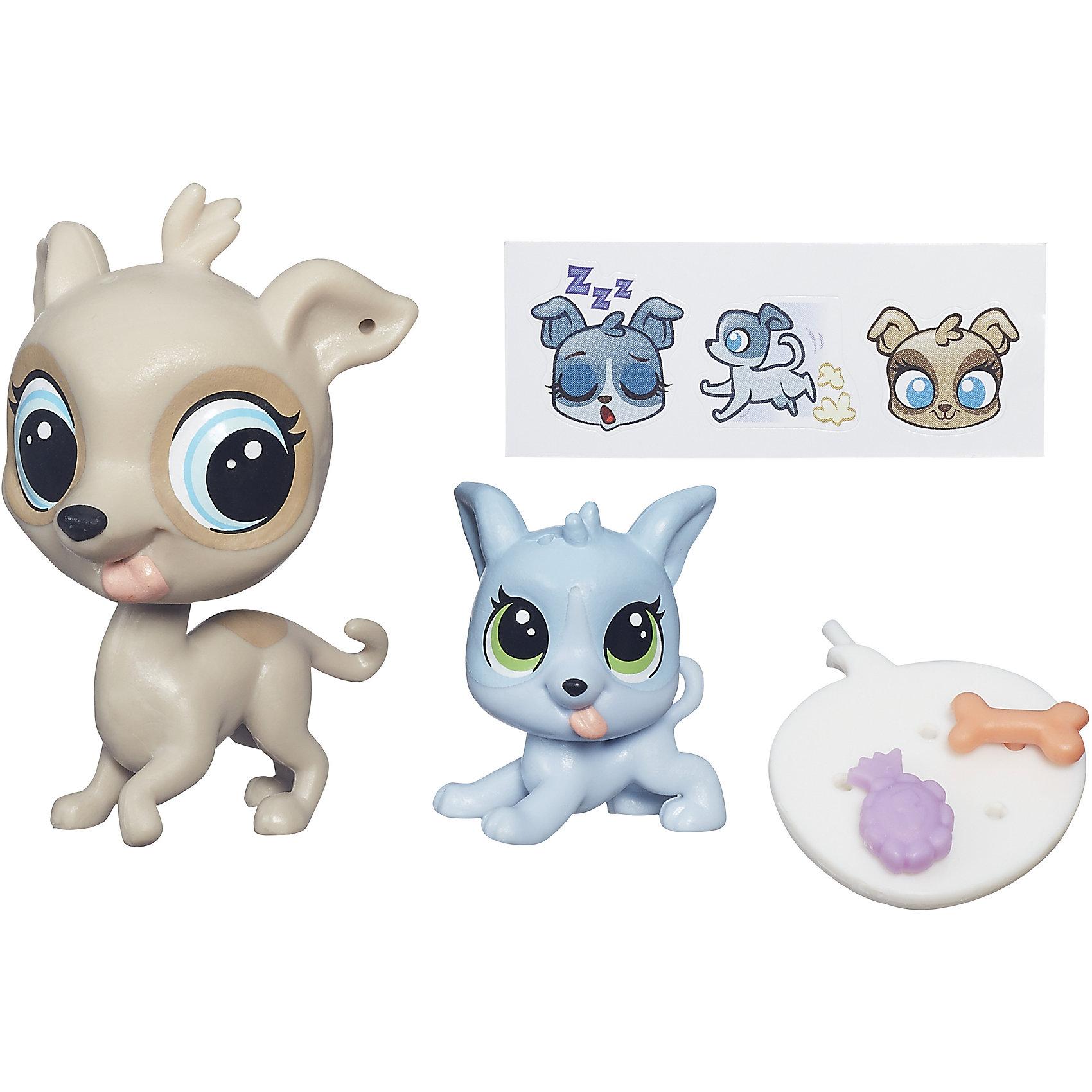 Hasbro Зверюшка и ее малыш, Littlest Pet Shop, А7313/B4765 фигурка littlest pet shop зверюшка в закрытой упаковке 5 см в ассортименте