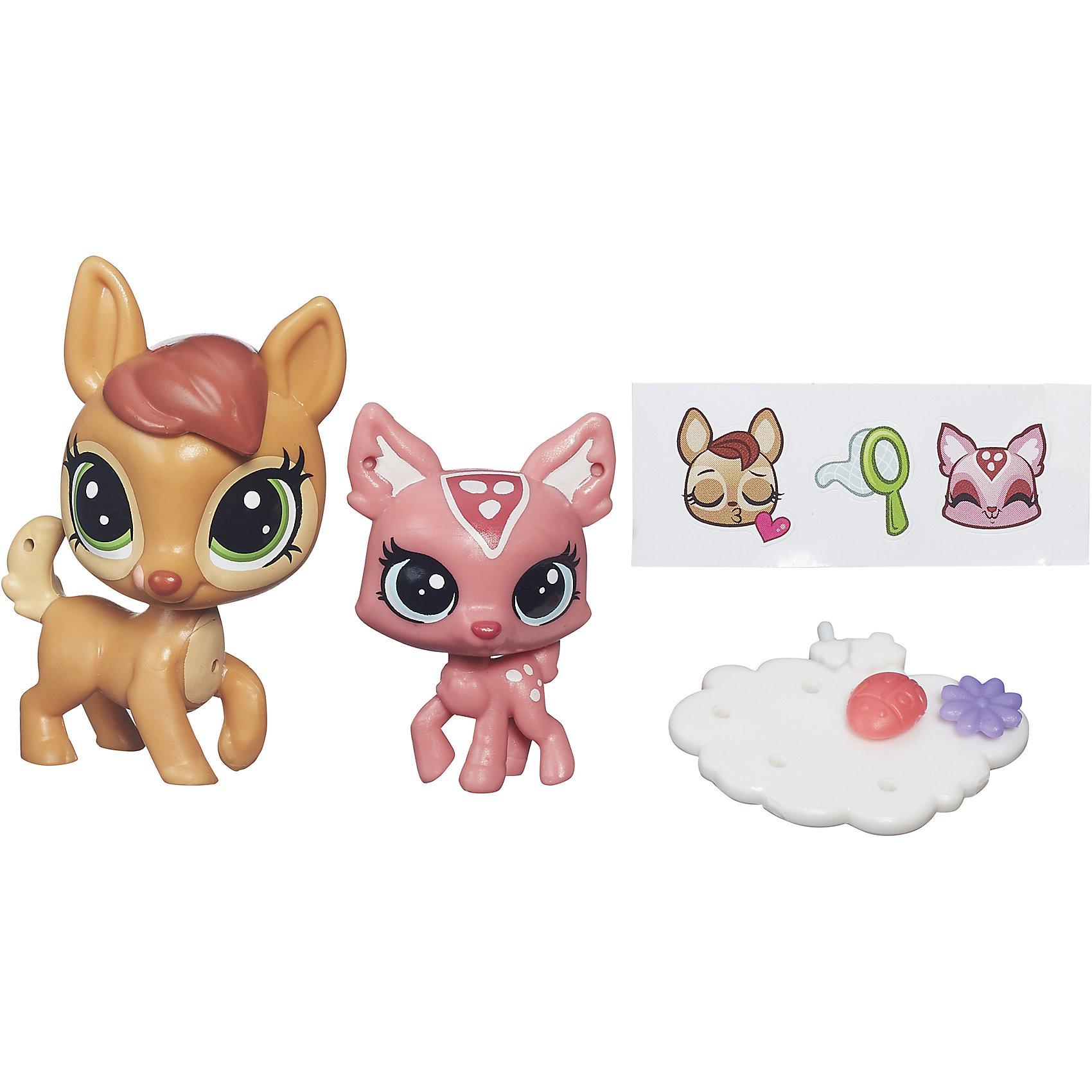 Hasbro Зверюшка и ее малыш, Littlest Pet Shop, А7313/B4762 игровые наборы littlest pet shop стильный зоомагазин