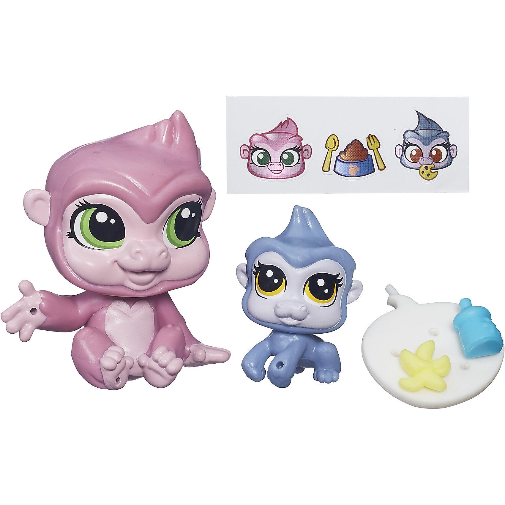 Hasbro Зверюшка и ее малыш, Littlest Pet Shop, А7313/B4764 игровые наборы littlest pet shop стильный зоомагазин