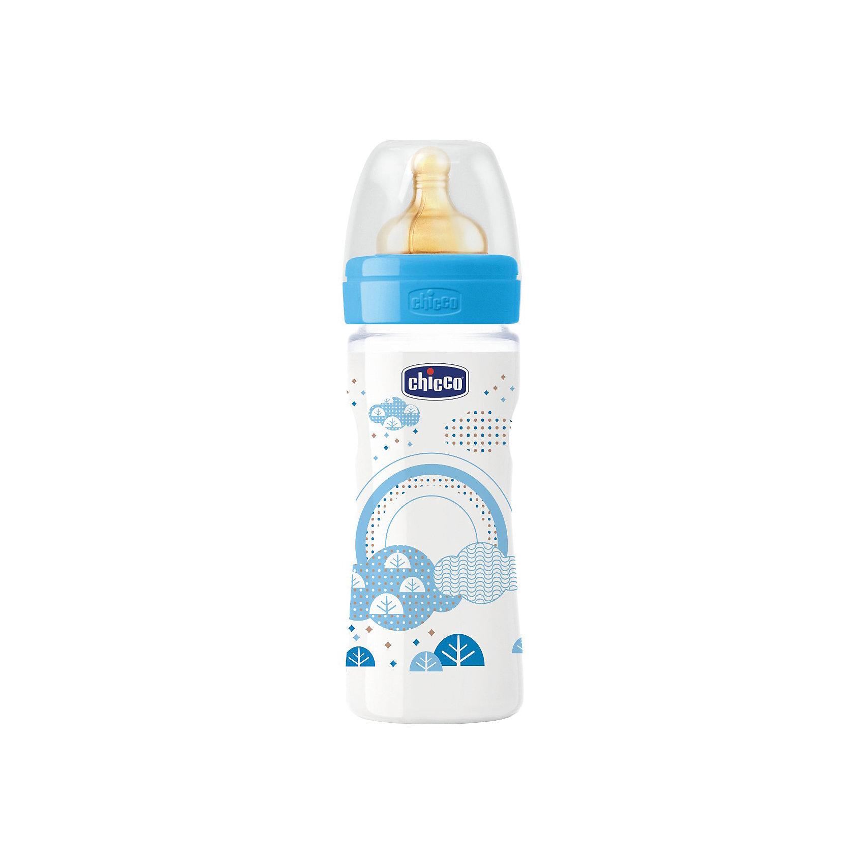 цена на CHICCO Бутылочка Well-Being Boy 2мес.+, лат.соска, РР,250мл., CHICCO