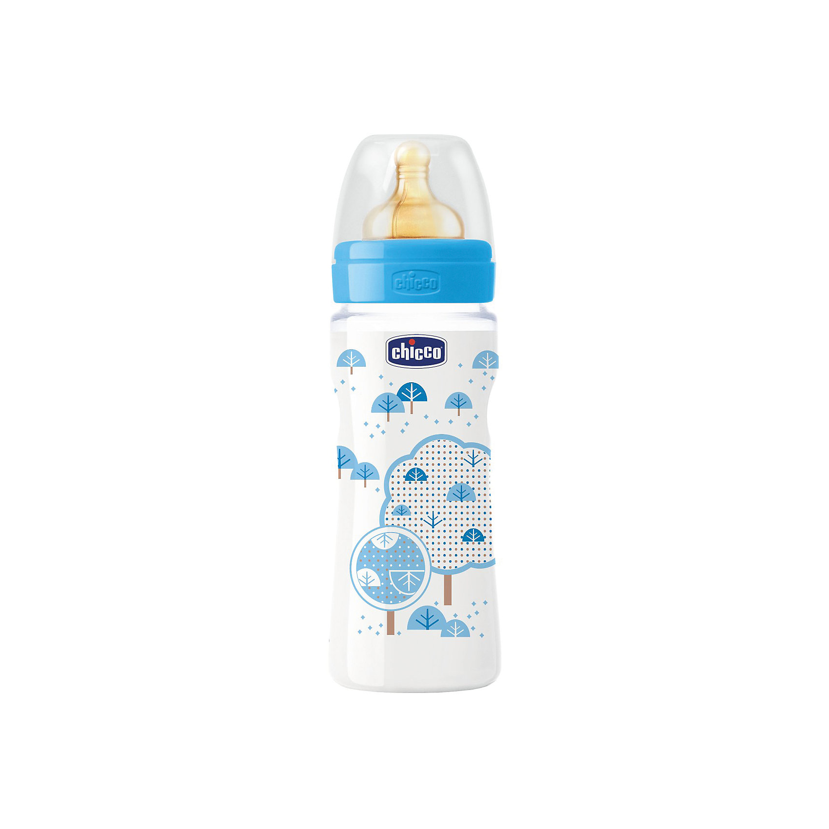 цена на CHICCO Бутылочка Well-Being Boy 4мес.+, лат.соска, РР, 330мл., CHICCO