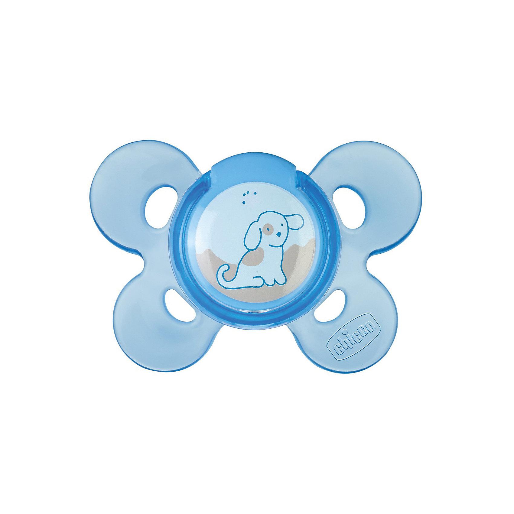 Пустышка Physio Comfort, 1шт., 0мес.+, силикон,Собачка, CHICCOПустышка Physio Comfort от известного итальянского бренда Chicco разработана совместно с ведущими ортодонтами и учитывает анатомические особенности ротовой полости грудного ребенка. Такая пустышка не препятствует процессу правильного формирования ротовой полости. <br>Она производится из специально разработанного очень мягкого силикона, без использования пластика. Ультратонкий профиль у основания нагубника позволит ребенку естественно закрывать рот. Желоб на окончании пустышки обеспечит естественное положение языка и будет способствовать правильному прикусу. Выступы там же созданы для давления во время сосания, они имитируют естественные ощущение неба. Отверстия в нагубнике сделаны для притока воздуха к коже ребенка. В комплекте - футляр.<br><br>Дополнительная информация:<br><br>возраст: с рождения;<br>материал: силикон;<br>украшена изображением собачки;<br>анатомическая форма;<br>вентиляция.<br><br>Пустышку Physio Comfort от бренда CHICCO можно купить в нашем интернет-магазине.<br><br>Ширина мм: 130<br>Глубина мм: 80<br>Высота мм: 50<br>Вес г: 39<br>Возраст от месяцев: 0<br>Возраст до месяцев: 2<br>Пол: Мужской<br>Возраст: Детский<br>SKU: 4803971