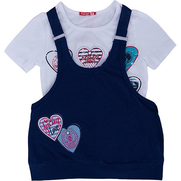 Комплект: футболка и туника для девочки PELICANКомплекты<br>Многослойность - на пике моды! Модный комплект состоит из туники и футболки. Удобные вещи помогут разнообразить гардероб ребенка, создать подходящий погоде ансамбль. Удобный крой и качественный материал обеспечат ребенку комфорт при ношении этих вещей. <br>Туника очень стильно смотрится благодаря актуальной в этот сезоне расцветке. Футболка - с модным принтом и короткими рукавами. Материал - легкий, отлично подходит для лета, состоит преимущественно из дышащего натурального хлопка. Очень приятен на ощупь, не вызывает аллергии.<br><br>Дополнительная информация:<br><br>материал: 93% хлопок, 7% эластан;<br>цвет: синий;<br>с принтом;<br>рукава короткие.<br><br>Комплект для девочки от бренда PELICAN (Пеликан) можно купить в нашем магазине.<br><br>Ширина мм: 199<br>Глубина мм: 10<br>Высота мм: 161<br>Вес г: 151<br>Цвет: синий<br>Возраст от месяцев: 84<br>Возраст до месяцев: 96<br>Пол: Женский<br>Возраст: Детский<br>Размер: 128,116,122<br>SKU: 4804934