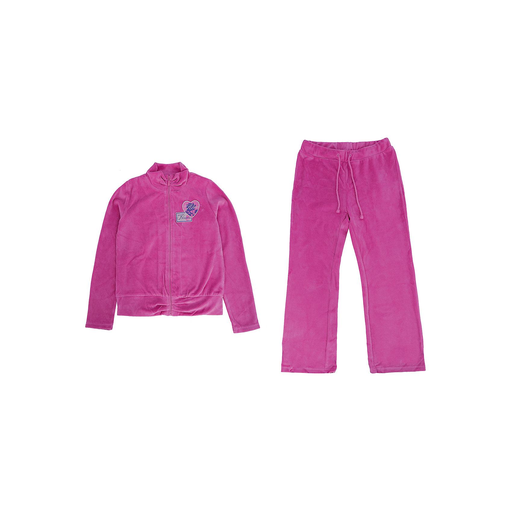 Комплект для девочки PELICANМодный велюровый комплект для девочки состоит из курточки и брюк. Удобные брюки и курточка в спортивном стиле помогут разнообразить летний гардероб ребенка, создать подходящий погоде ансамбль. Удобный крой и качественный материал обеспечат ребенку комфорт при ношении этих вещей. <br>Брюки очень стильно смотрятся благодаря актуальному в этом сезоне силуэту. Курточка украшена модной вышивкой. Материал - мягкий легкий велюр, отлично подходит для детской одежды, состоит преимущественно из дышащего натурального хлопка. Очень приятен на ощупь, не вызывает аллергии.<br><br>Дополнительная информация:<br><br>материал: 80% хлопок, 20% полиэстер;<br>цвет: фиолетовый;<br>курточка украшена вышивкой, на молнии.<br><br>Комплект для девочки от бренда PELICAN (Пеликан) можно купить в нашем магазине.<br><br>Ширина мм: 215<br>Глубина мм: 88<br>Высота мм: 191<br>Вес г: 336<br>Цвет: фиолетовый<br>Возраст от месяцев: 108<br>Возраст до месяцев: 120<br>Пол: Женский<br>Возраст: Детский<br>Размер: 140,146,134,128,122,116<br>SKU: 4804938