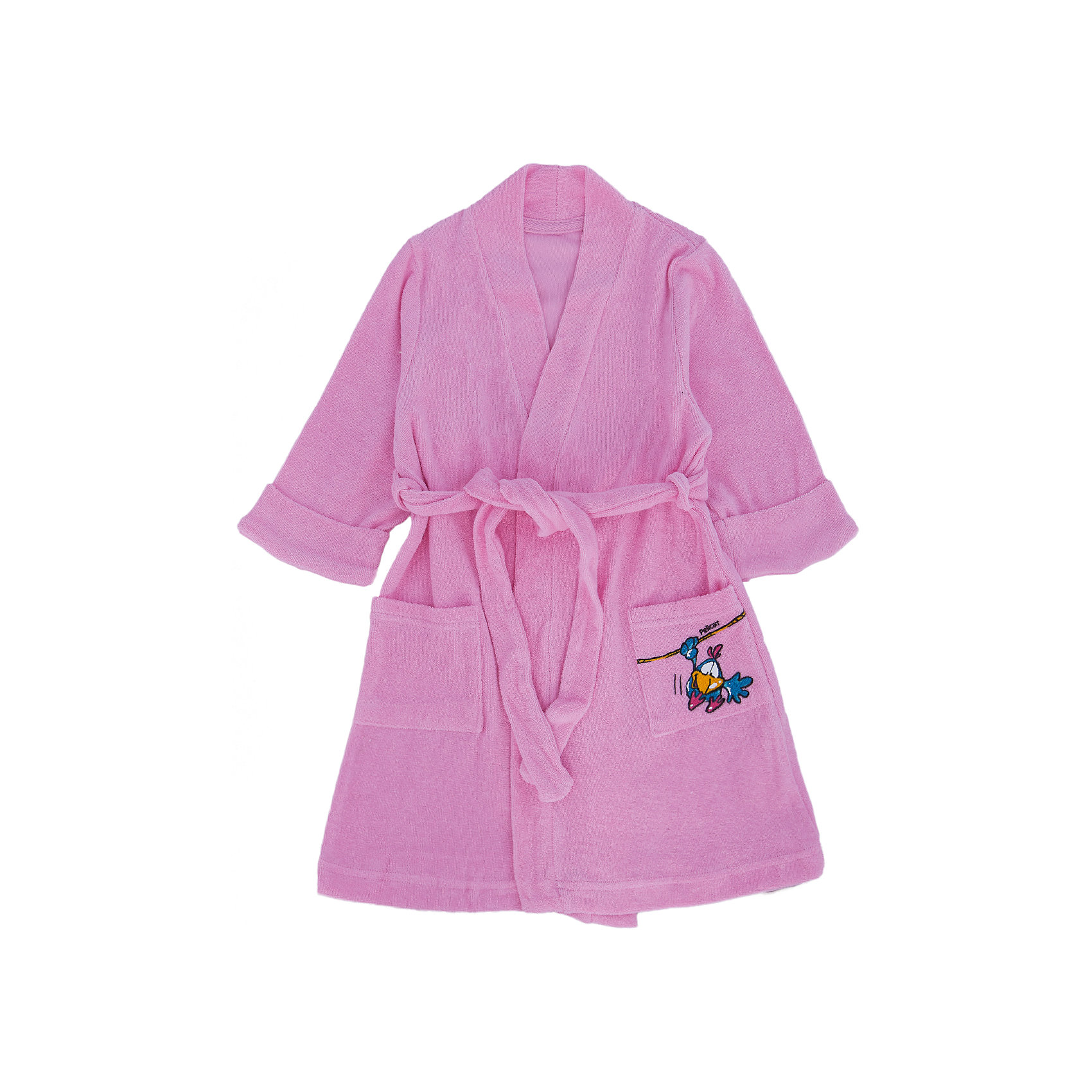 Халат для девочки PELICANХалаты<br>Комфортный симпатичный халат - отличный вариант для домашней одежды девочки. Удобный крой и качественный материал обеспечат ребенку комфорт при ношении этих вещей. <br>Материал халата - мягкий и приятный на ощупь. Завязывается изделие с помощью широкого пояса. Декорирована модель небольшим ярким принтом на кармане. Материал  состоит преимущественно из дышащего натурального хлопка. <br><br>Дополнительная информация:<br><br>материал:  93% хлопок, 7% эластан;<br>цвет: розовый;<br>карманы;<br>принт.<br><br>Халат для девочки от бренда PELICAN (Пеликан) можно купить в нашем магазине.<br><br>Ширина мм: 143<br>Глубина мм: 20<br>Высота мм: 234<br>Вес г: 253<br>Цвет: розовый<br>Возраст от месяцев: 18<br>Возраст до месяцев: 24<br>Пол: Женский<br>Возраст: Детский<br>Размер: 92,104,98<br>SKU: 4804966