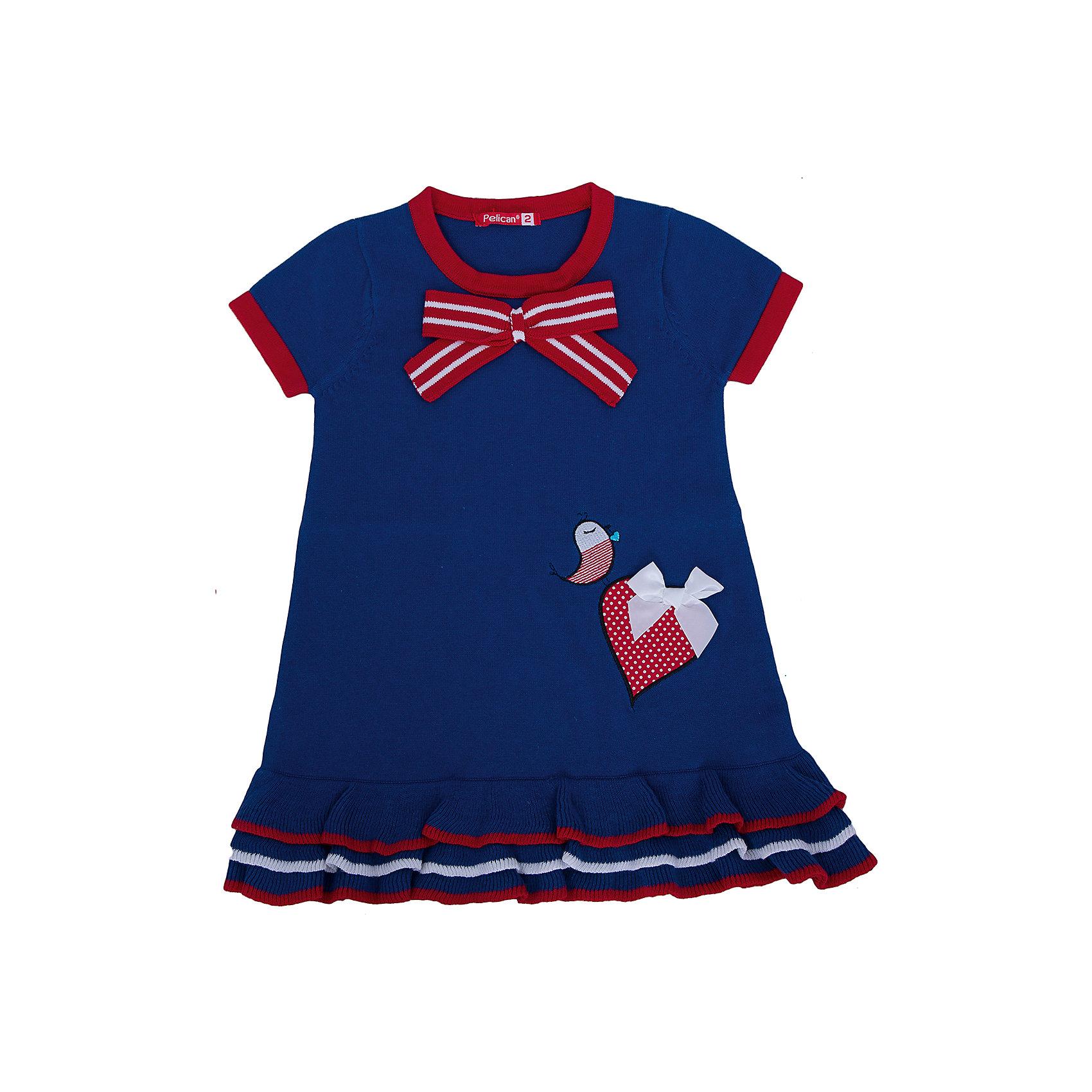 Платье для девочки PELICANПлатья и сарафаны<br>Модное платье для девочки смотрится очень нарядно. Оно поможет разнообразить гардероб ребенка, создать подходящий погоде ансамбль. Удобный крой и качественный материал обеспечат ребенку комфорт при ношении этих вещей. <br>Платье декорировано аппликацией и бантом, низ - украшен воланами. Рукава короткие. Материал платья состоит из дышащего натурального хлопка. <br><br>Дополнительная информация:<br><br>материал: 100% хлопок;<br>цвет: разноцветный;<br>декорировано бантом и воланами.<br><br>Платье для девочки от бренда PELICAN (Пеликан) можно купить в нашем магазине.<br><br>Ширина мм: 236<br>Глубина мм: 16<br>Высота мм: 184<br>Вес г: 177<br>Цвет: голубой<br>Возраст от месяцев: 18<br>Возраст до месяцев: 24<br>Пол: Женский<br>Возраст: Детский<br>Размер: 92,110,104,98<br>SKU: 4804974