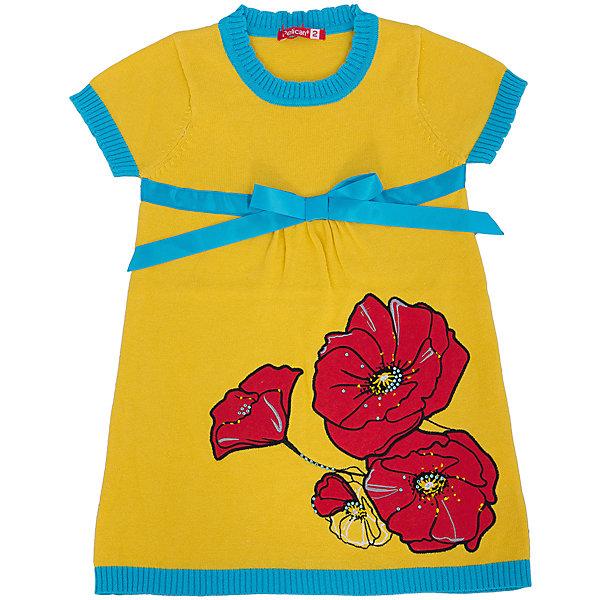 Платье для девочки PELICANПлатья и сарафаны<br>Удобное и модное платье для девочки смотрится очень нарядно. Оно поможет разнообразить гардероб ребенка, создать подходящий погоде ансамбль. Удобный крой и качественный материал обеспечат ребенку комфорт при ношении этих вещей. <br>Платье декорировано ярким принтом и контрастным бантом. Рукава короткие. Они и горловина обработаны мягкой окантовкой. Материал платья состоит из дышащего натурального хлопка. <br><br>Дополнительная информация:<br><br>материал: 100% хлопок;<br>цвет: разноцветный;<br>декорировано бантом и принтом.<br><br>Платье для девочки от бренда PELICAN (Пеликан) можно купить в нашем магазине.<br><br>Ширина мм: 236<br>Глубина мм: 16<br>Высота мм: 184<br>Вес г: 177<br>Цвет: желтый<br>Возраст от месяцев: 18<br>Возраст до месяцев: 24<br>Пол: Женский<br>Возраст: Детский<br>Размер: 92,110,104,98<br>SKU: 4804979