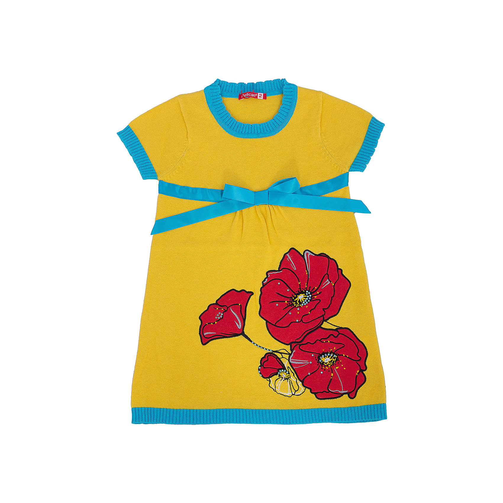 Платье для девочки PELICANПлатья и сарафаны<br>Удобное и модное платье для девочки смотрится очень нарядно. Оно поможет разнообразить гардероб ребенка, создать подходящий погоде ансамбль. Удобный крой и качественный материал обеспечат ребенку комфорт при ношении этих вещей. <br>Платье декорировано ярким принтом и контрастным бантом. Рукава короткие. Они и горловина обработаны мягкой окантовкой. Материал платья состоит из дышащего натурального хлопка. <br><br>Дополнительная информация:<br><br>материал: 100% хлопок;<br>цвет: разноцветный;<br>декорировано бантом и принтом.<br><br>Платье для девочки от бренда PELICAN (Пеликан) можно купить в нашем магазине.<br><br>Ширина мм: 236<br>Глубина мм: 16<br>Высота мм: 184<br>Вес г: 177<br>Цвет: желтый<br>Возраст от месяцев: 36<br>Возраст до месяцев: 48<br>Пол: Женский<br>Возраст: Детский<br>Размер: 104,92,98,110<br>SKU: 4804979